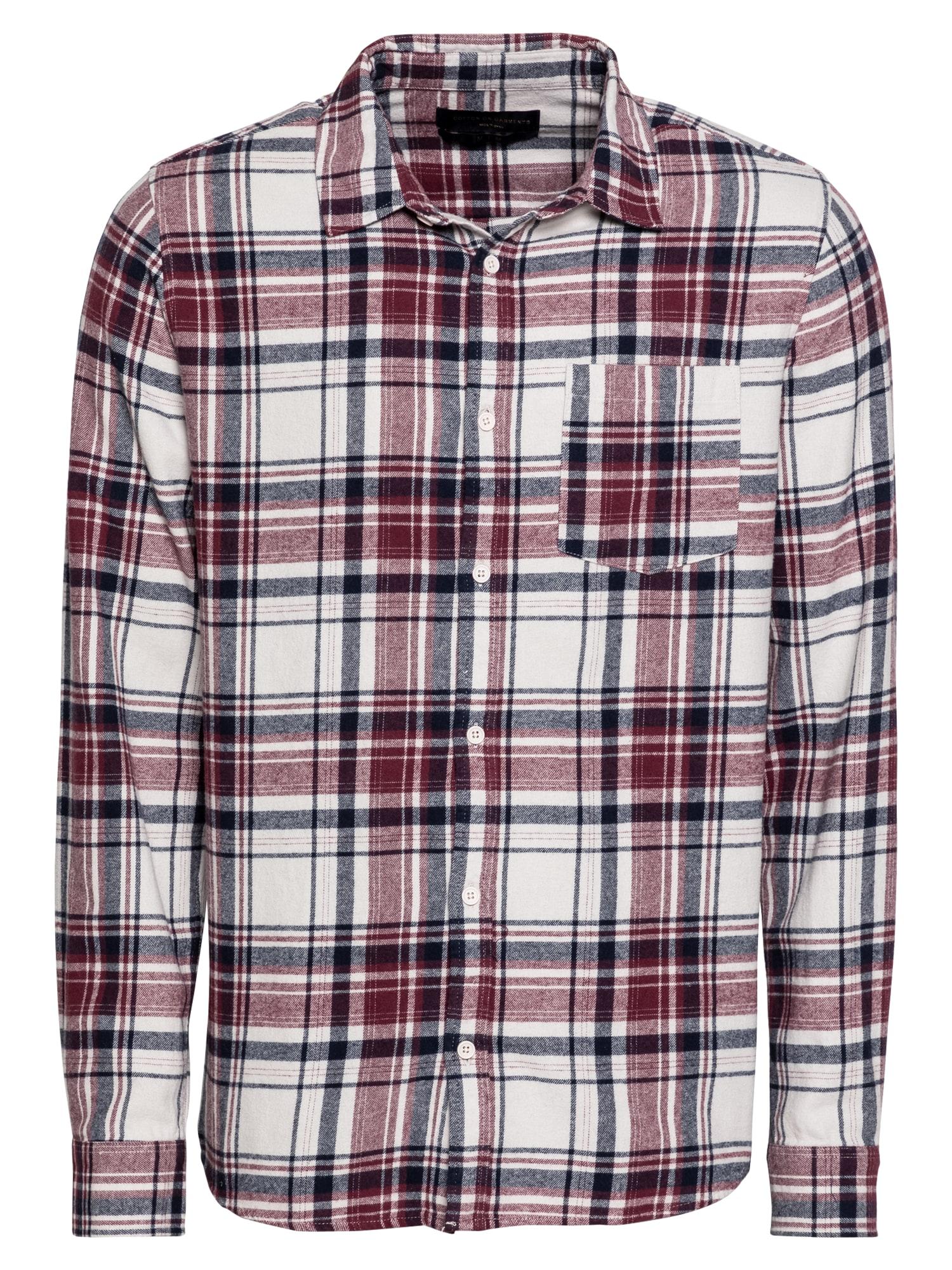 Cotton On Marškiniai raudona / balta / nakties mėlyna