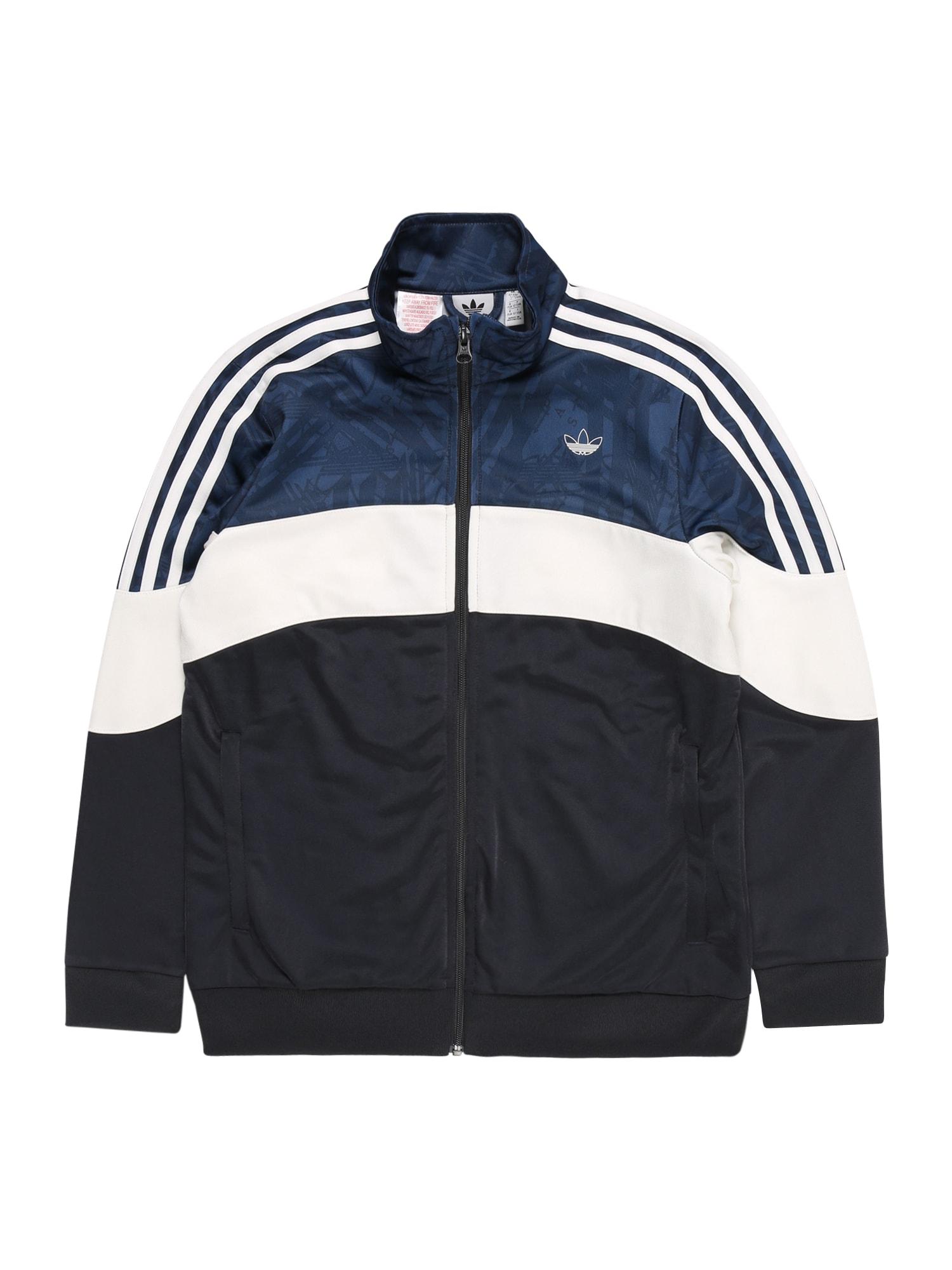 ADIDAS ORIGINALS Džemperis balta / tamsiai mėlyna / mėlyna