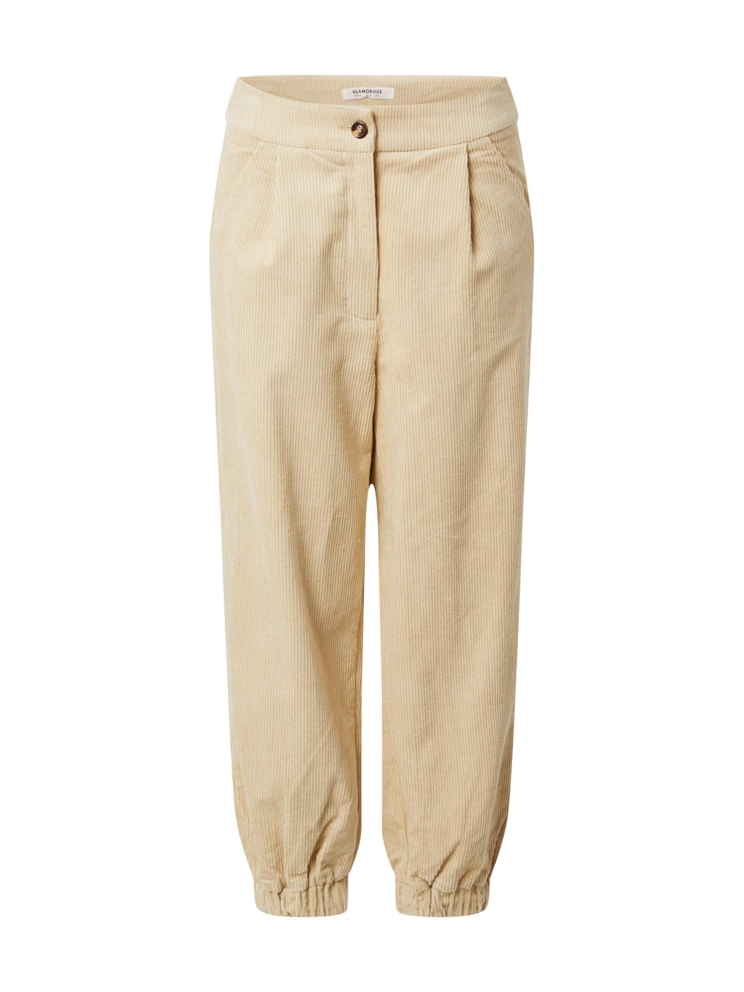 GLAMOROUS Kalhoty  béžová