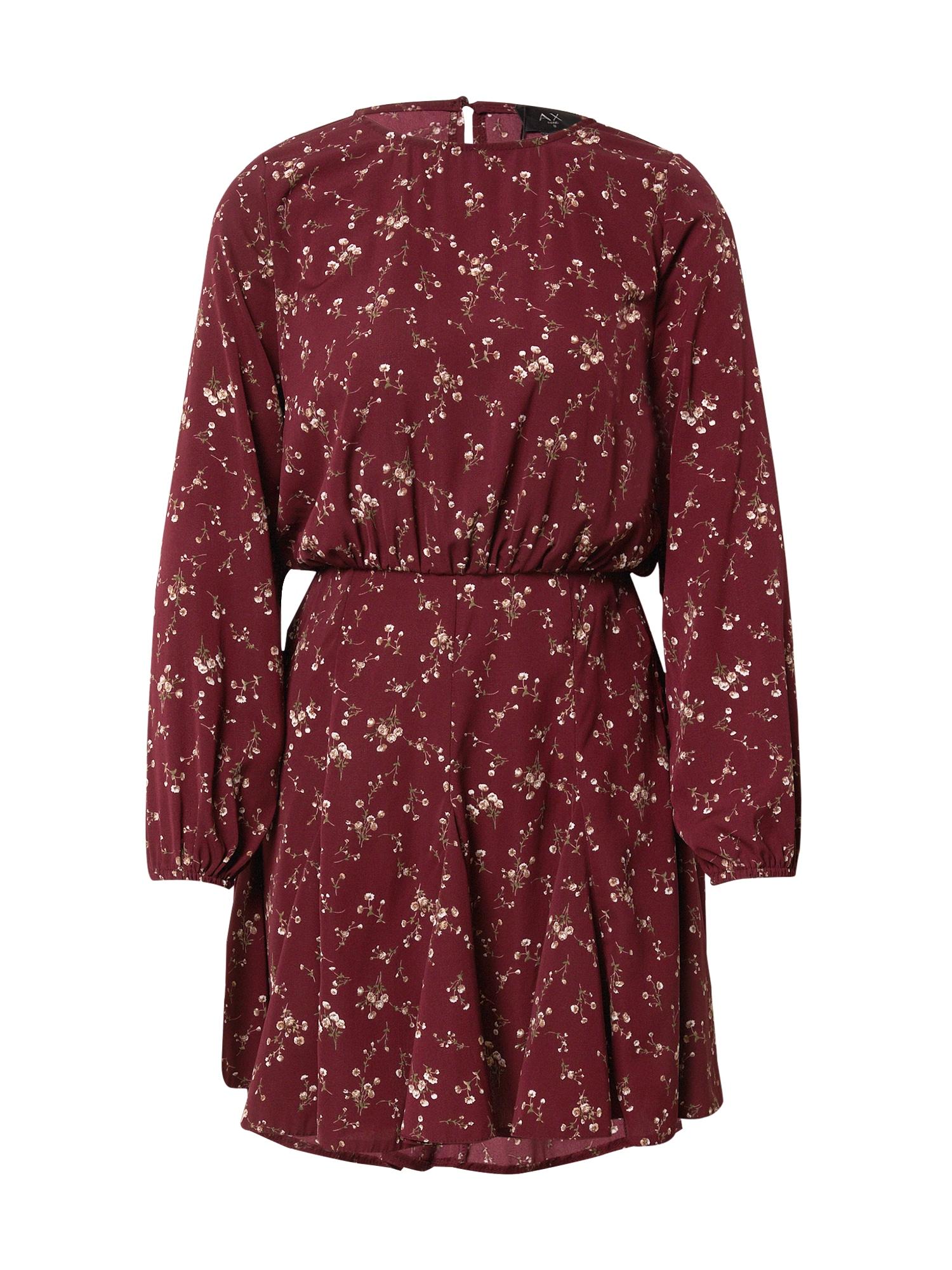 AX Paris Suknelė vyno raudona spalva / mišrios spalvos