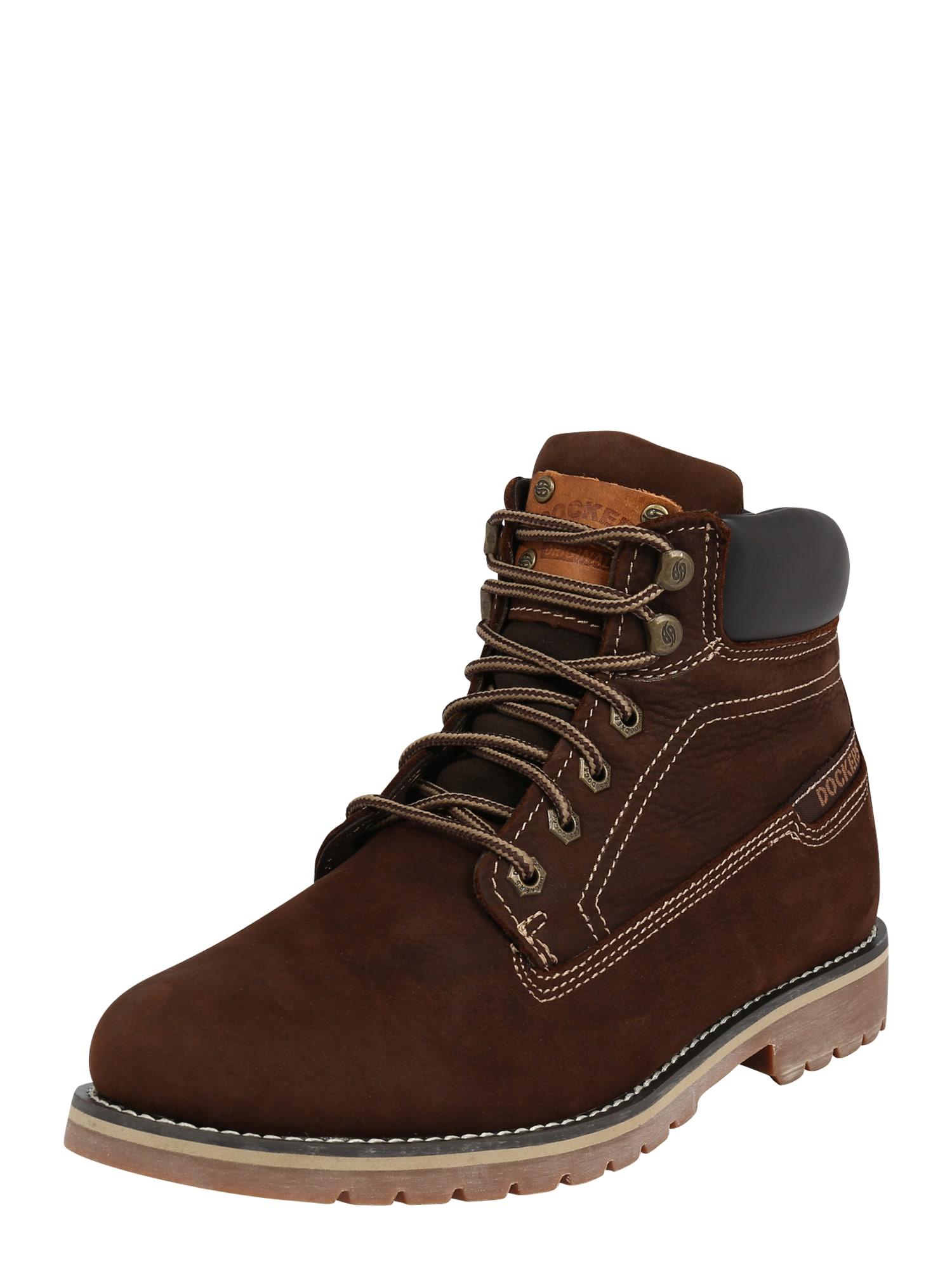 Dockers by Gerli Auliniai batai su raišteliais ruda (konjako) / šokolado spalva