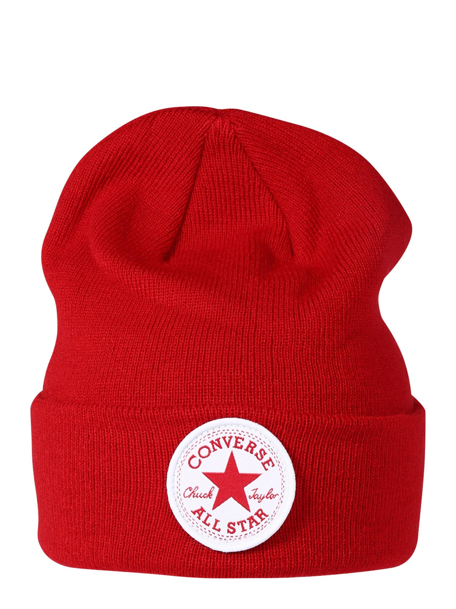 CONVERSE Čepice  červená / bílá