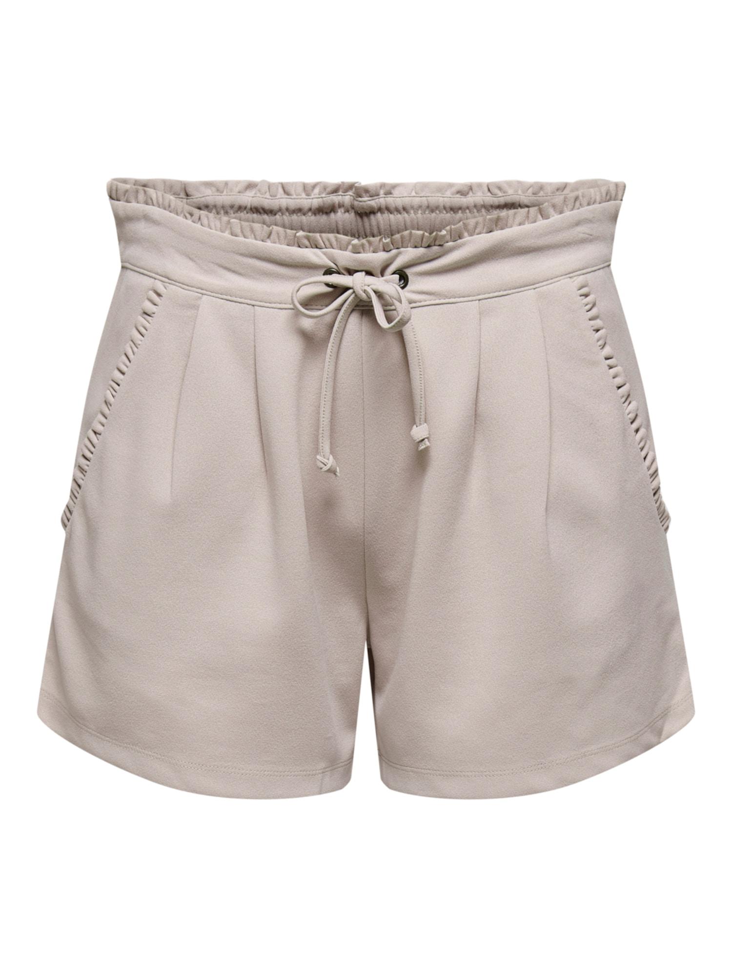 JACQUELINE de YONG Klostuotos kelnės 'New Catia' šviesiai pilka