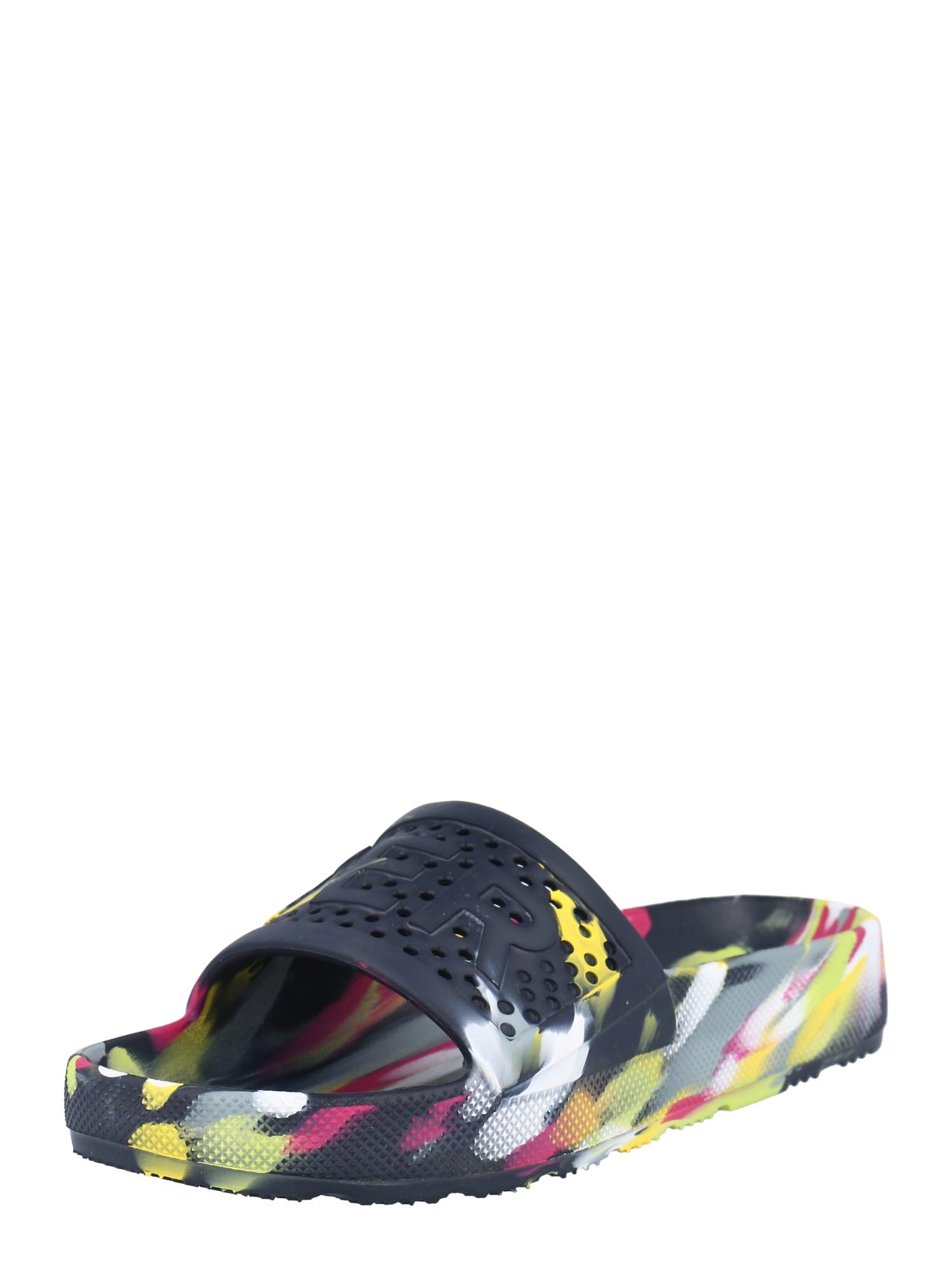 HUNTER Sandalai / maudymosi batai kobalto mėlyna / balta / rožinė / žolės žalia / raudona