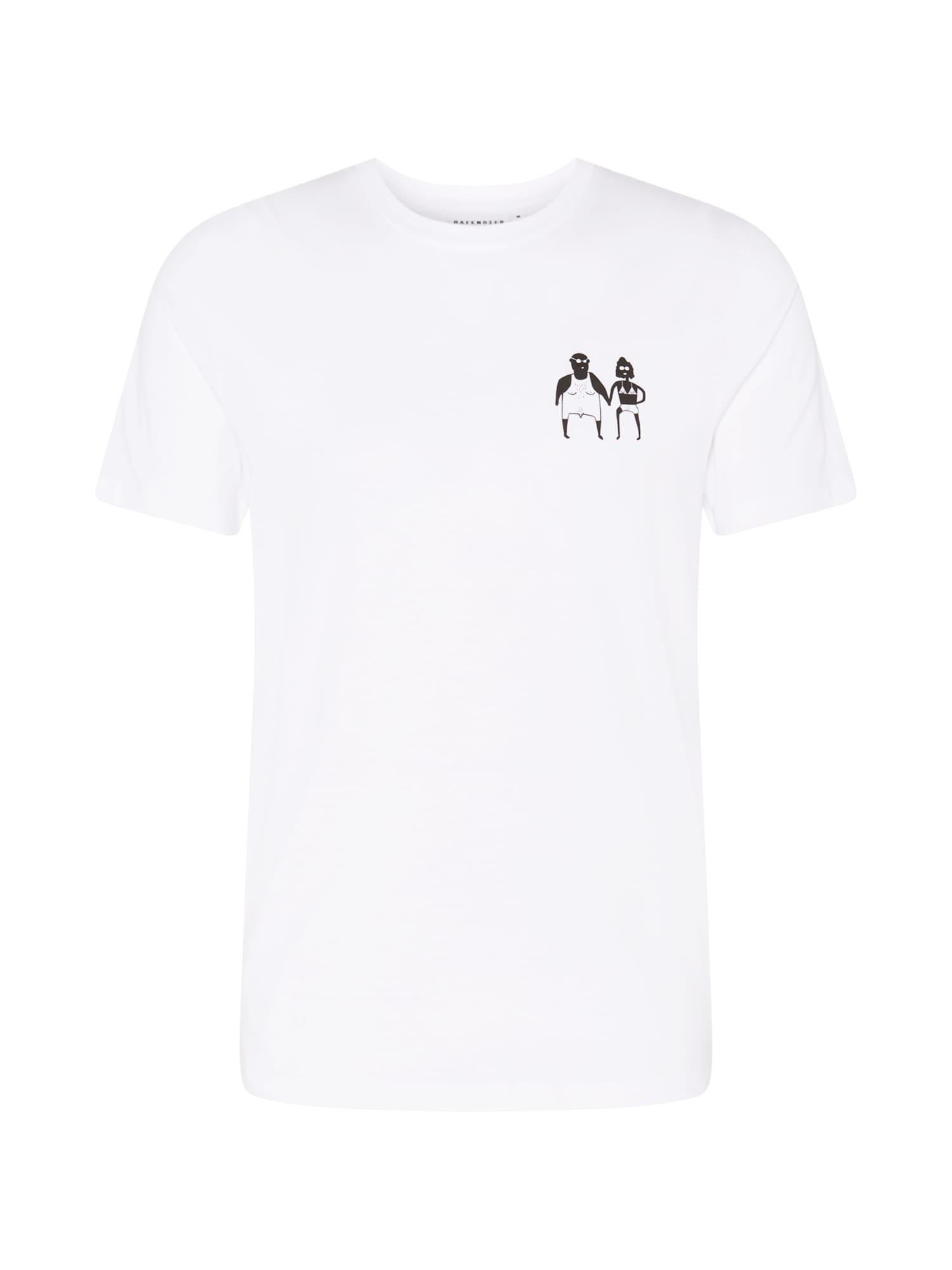 Hafendieb Marškinėliai balta / juoda