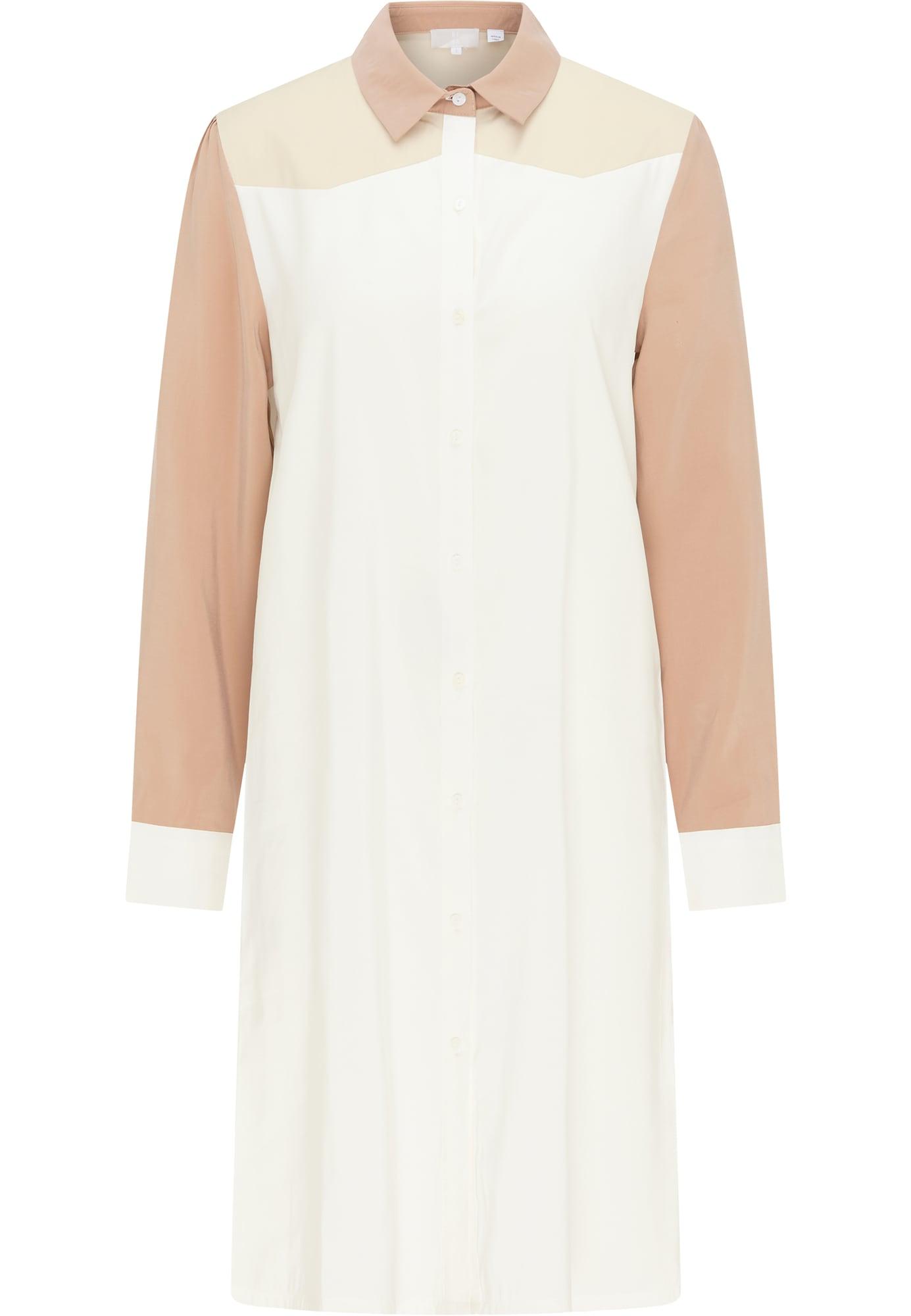 RISA Palaidinės tipo suknelė smėlio / balta / kupranugario