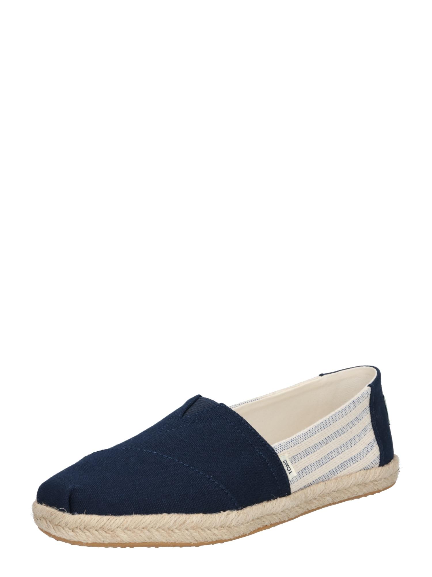 TOMS Espadrilky  námořnická modř / bílá / modrý melír / béžová