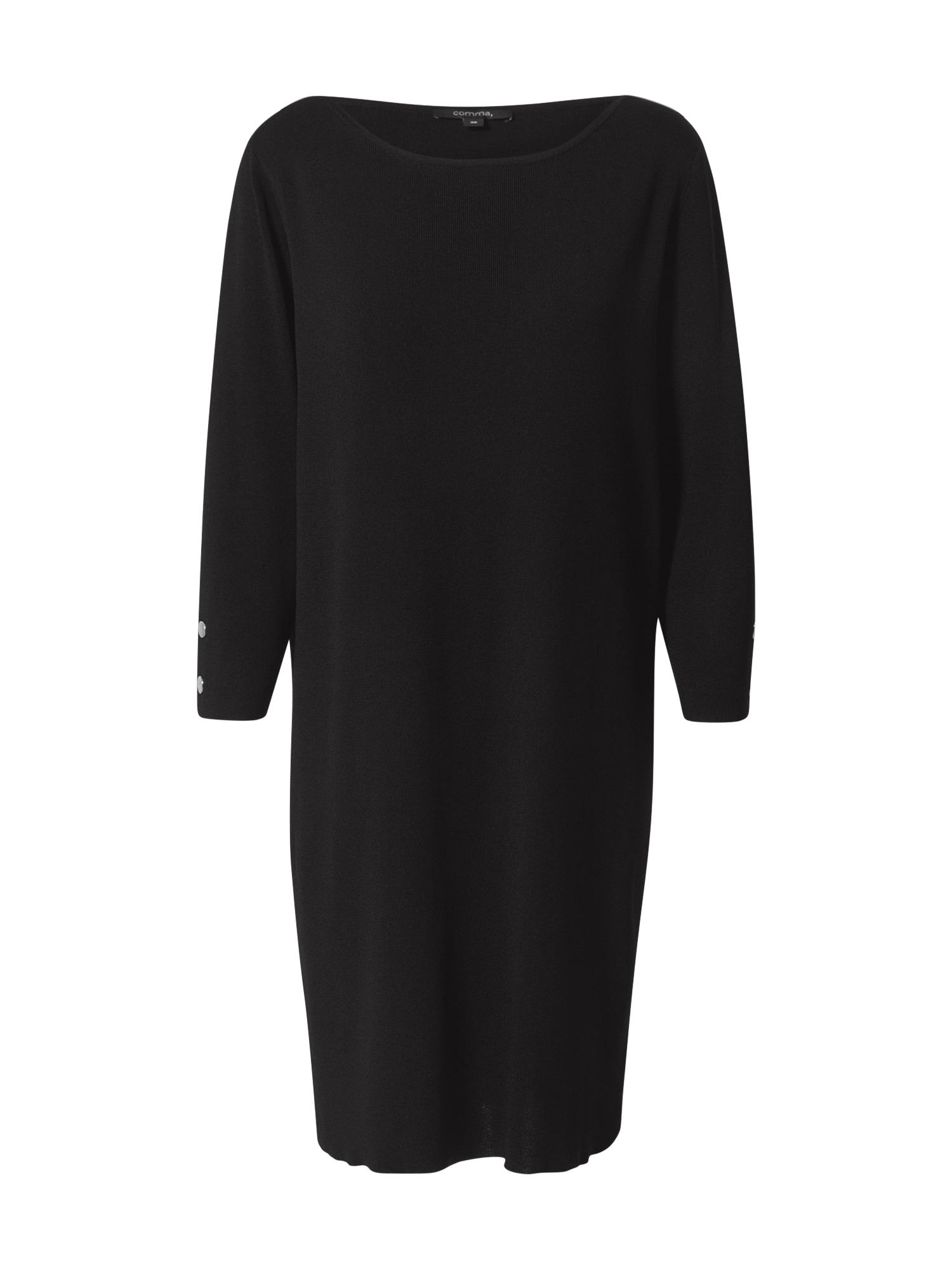 COMMA Megzta suknelė juoda