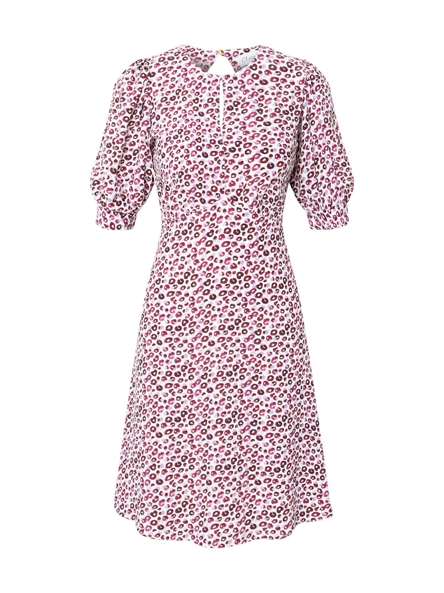 Closet London Suknelė balta / fuksijų spalva / alyvinė spalva / vyno raudona spalva