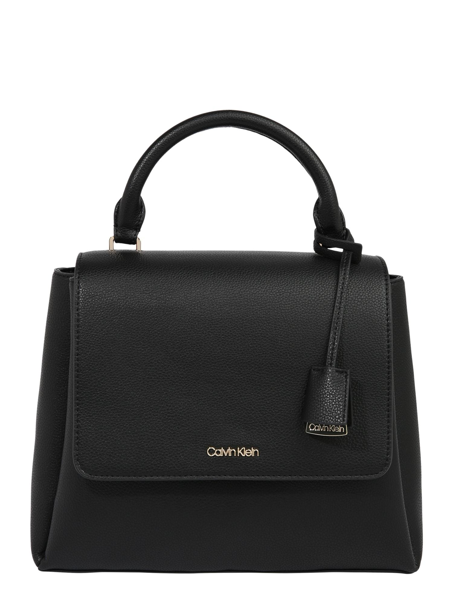 Calvin Klein Rankinė 'FLAP TOP H SM' juoda