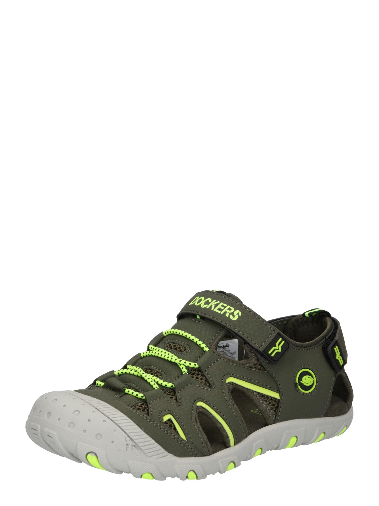Dockers by Gerli Atviri batai tamsiai žalia / kivių spalva