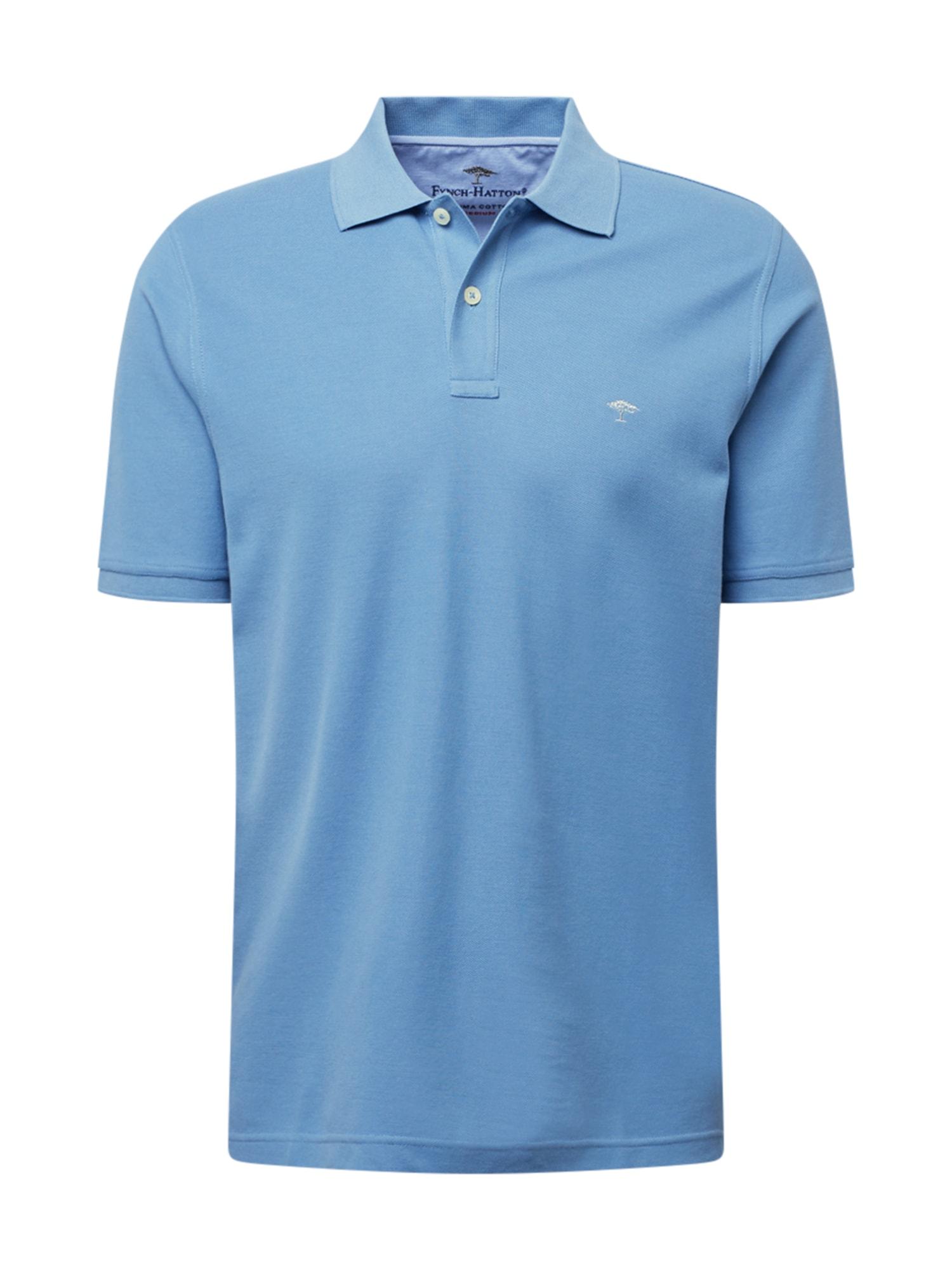 FYNCH-HATTON Marškinėliai mėlyna dūmų spalva