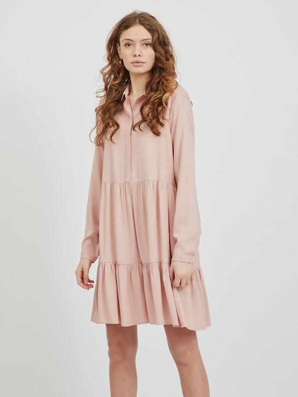 Vila Rose Langarm Hemdkleid