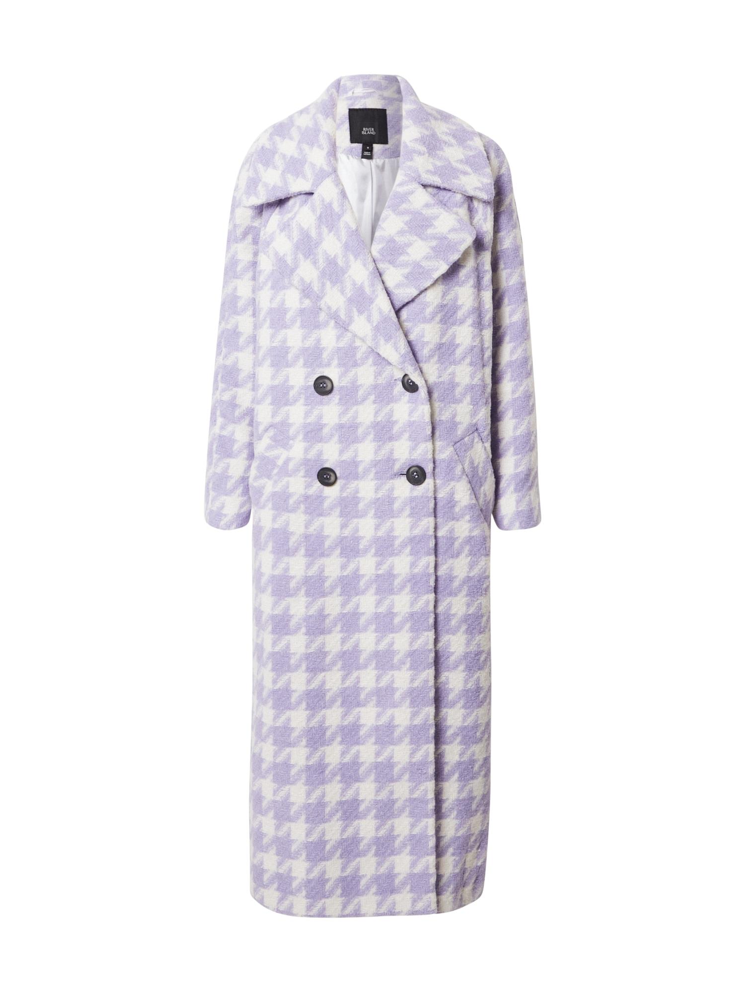 River Island Demisezoninis paltas balta / purpurinė