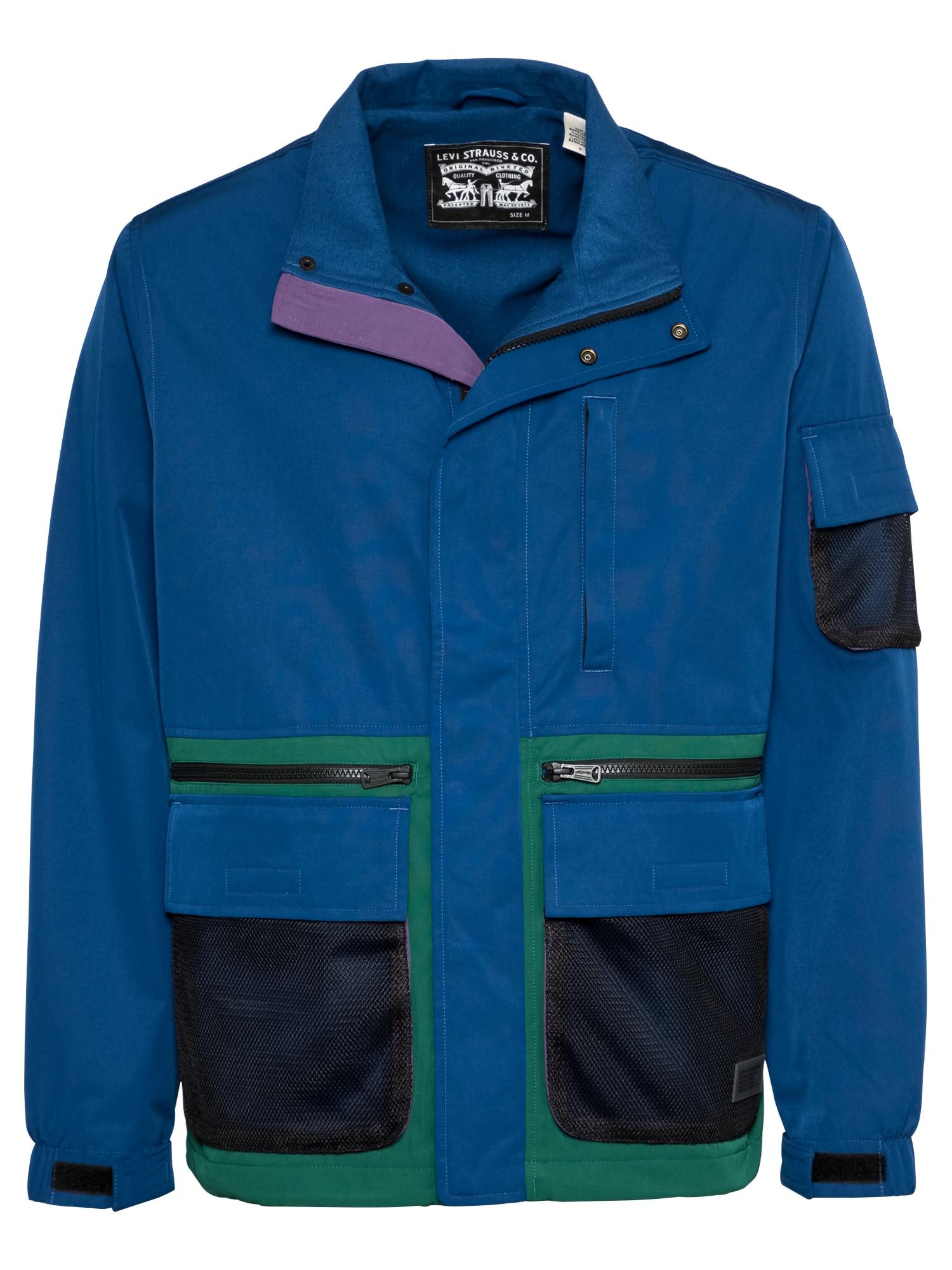 LEVI'S Přechodná bunda 'HEADLANDS'  tmavě modrá / noční modrá / zelená