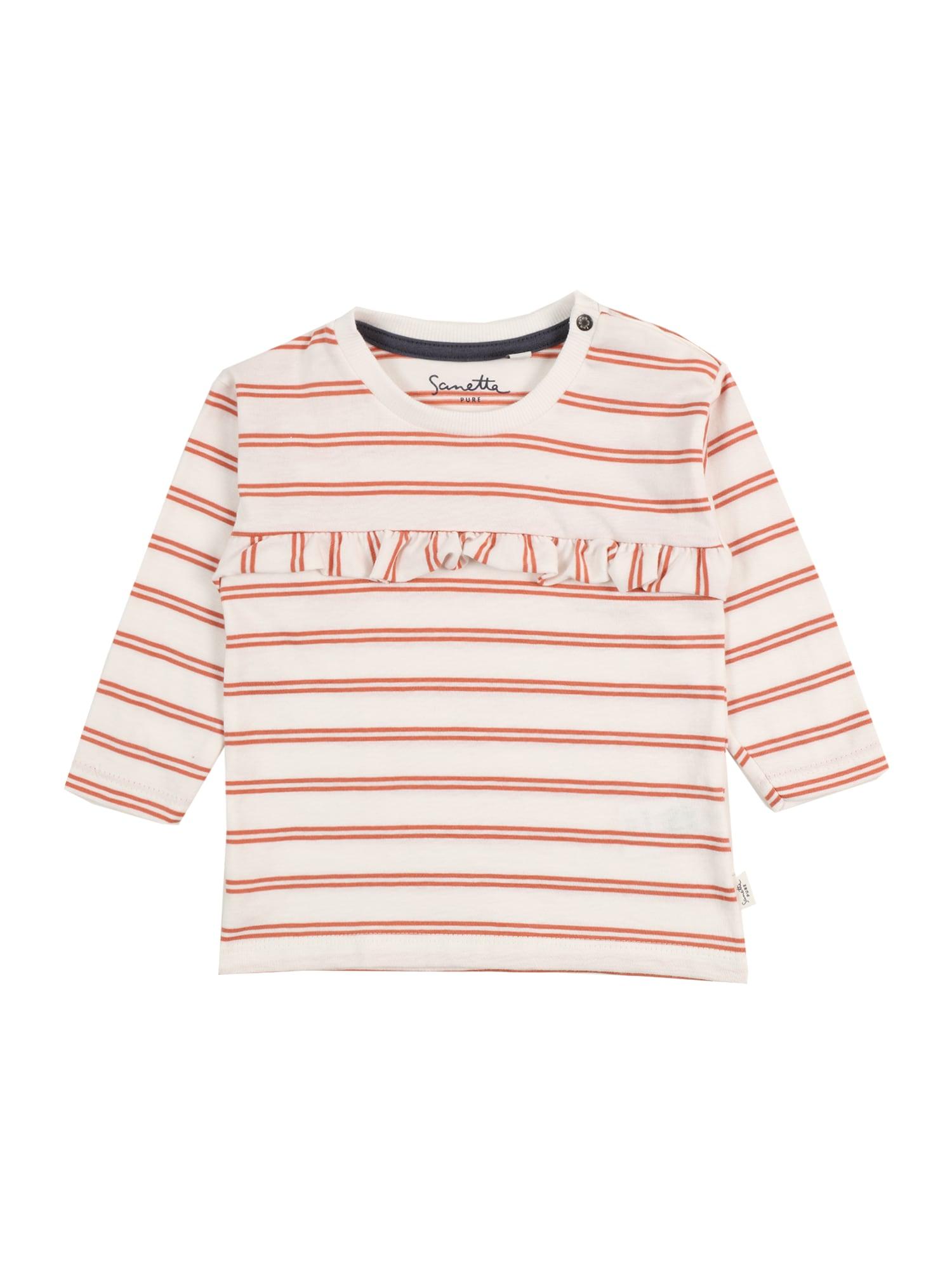 Sanetta Pure Marškinėliai oranžinė / balta