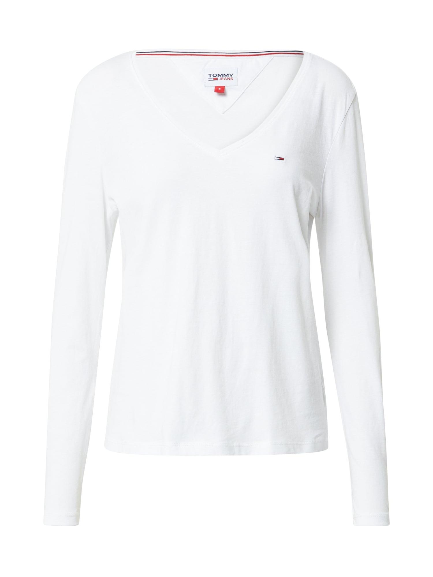 Tommy Jeans Tričko  bílá