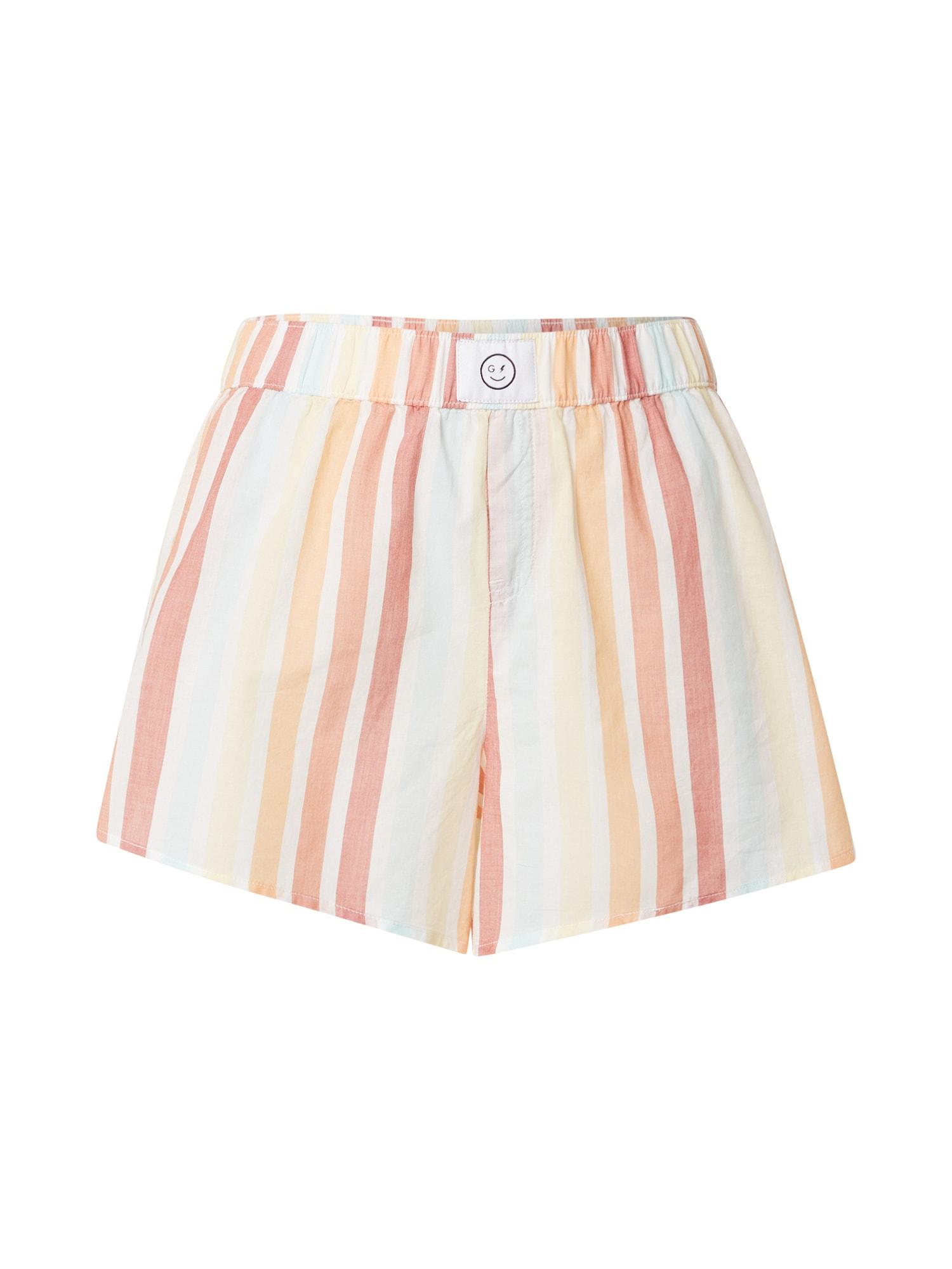 HOLLISTER Pyžamové nohavice  svetložltá / mätová / pastelovo oranžová / svetločervená / biela
