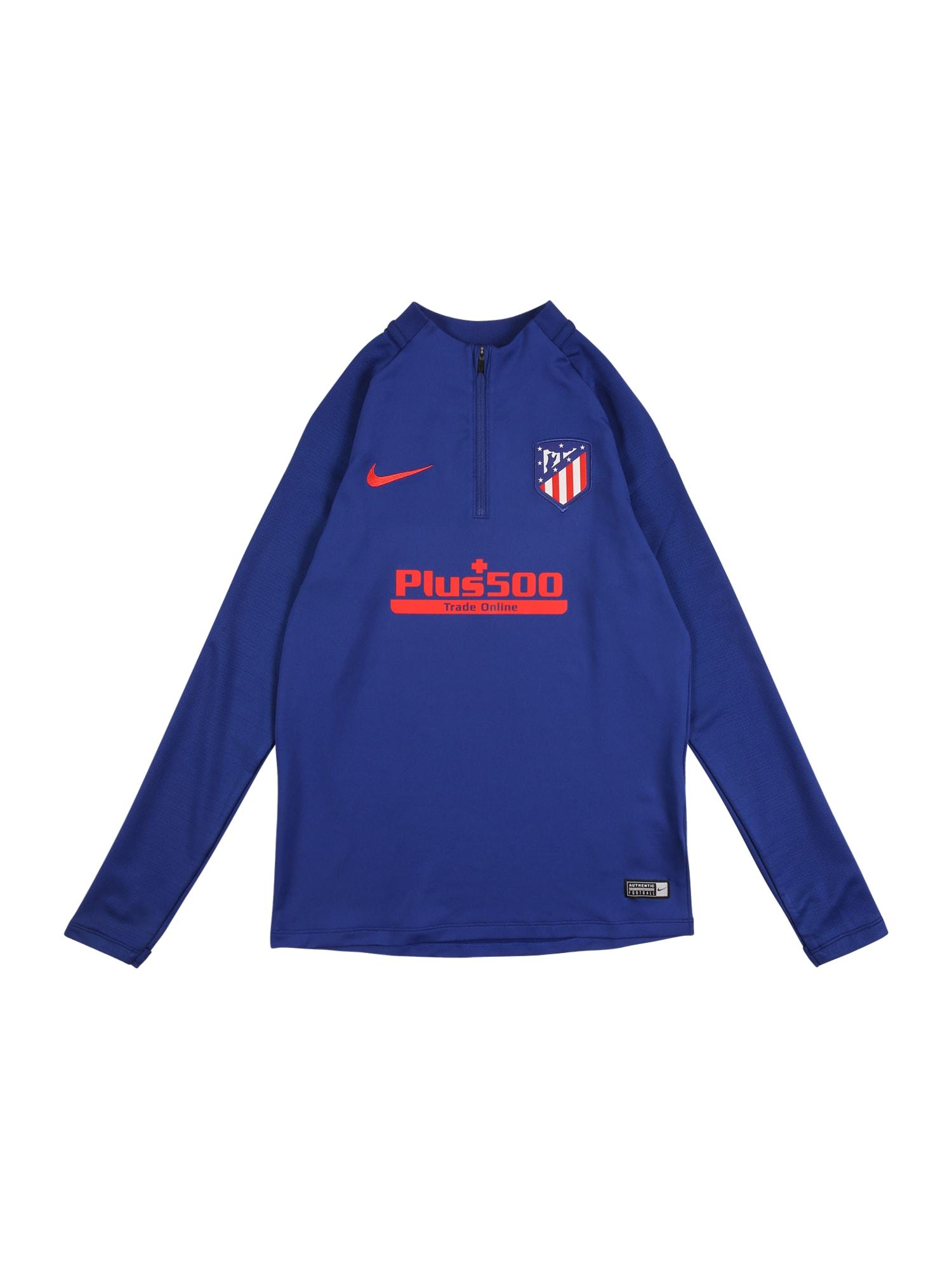 NIKE Sportovní mikina 'Atlético de Madrid'  královská modrá / červená