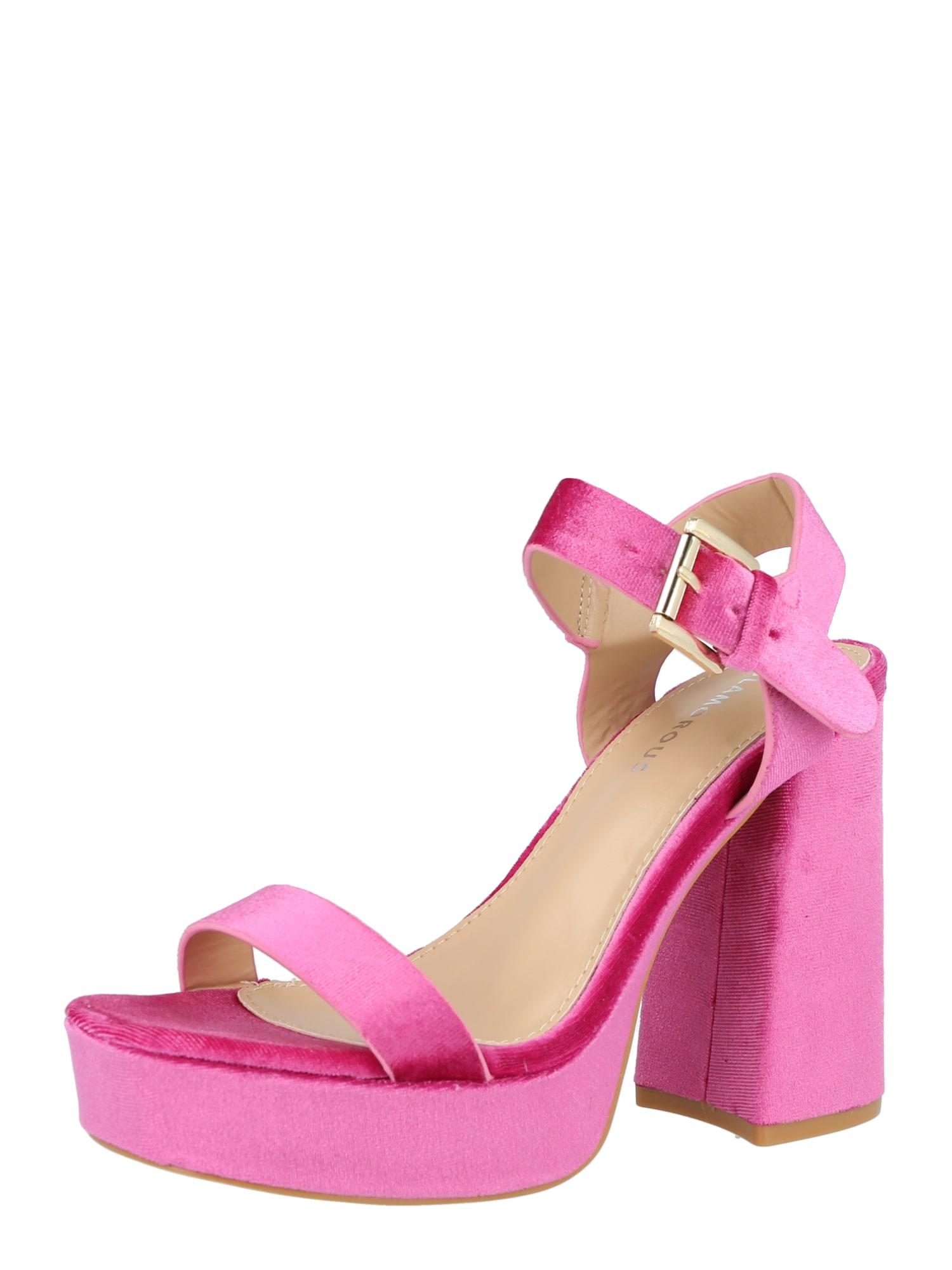 GLAMOROUS Sandalai rožinė