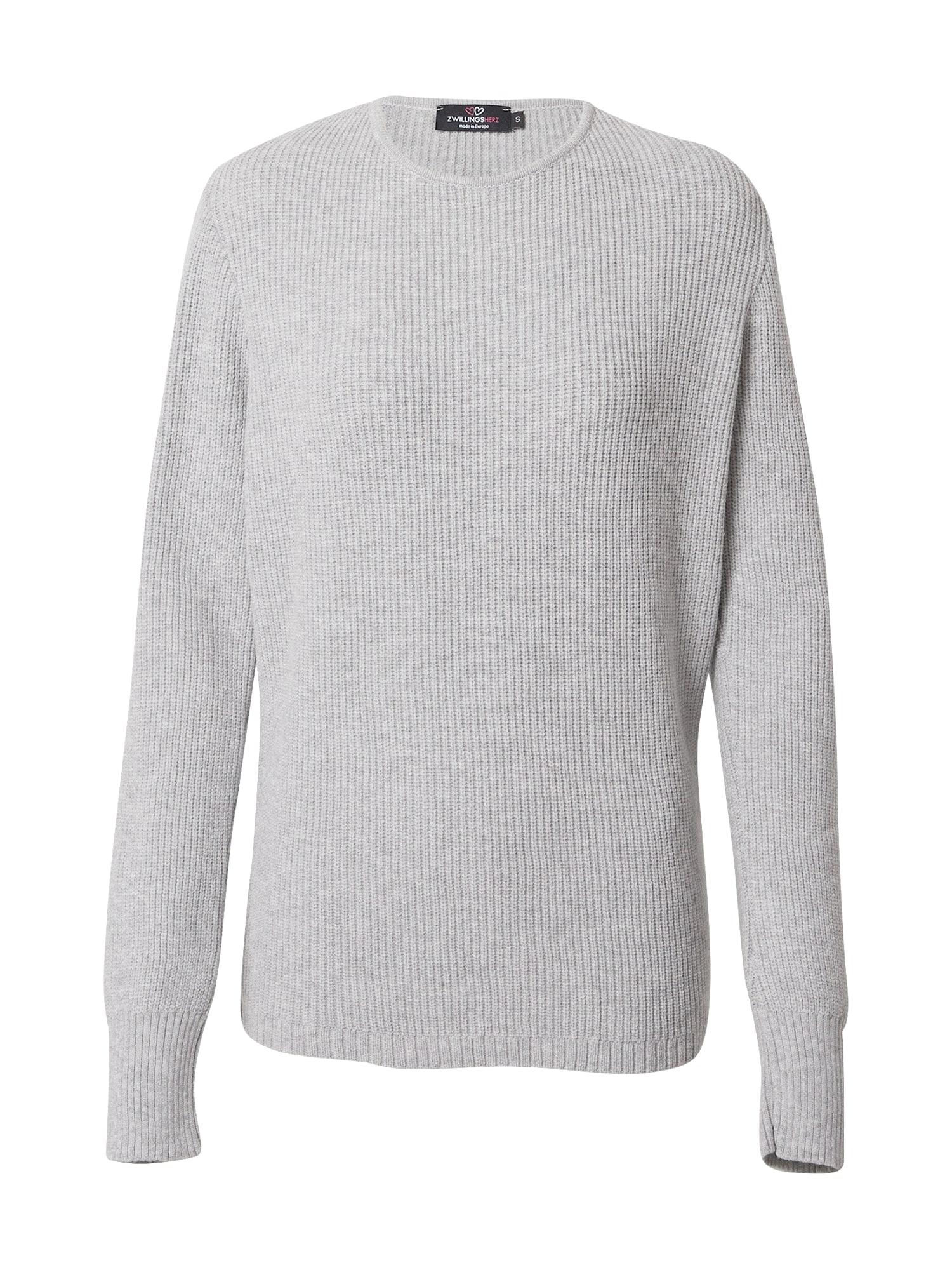 Zwillingsherz Megztinis šviesiai pilka