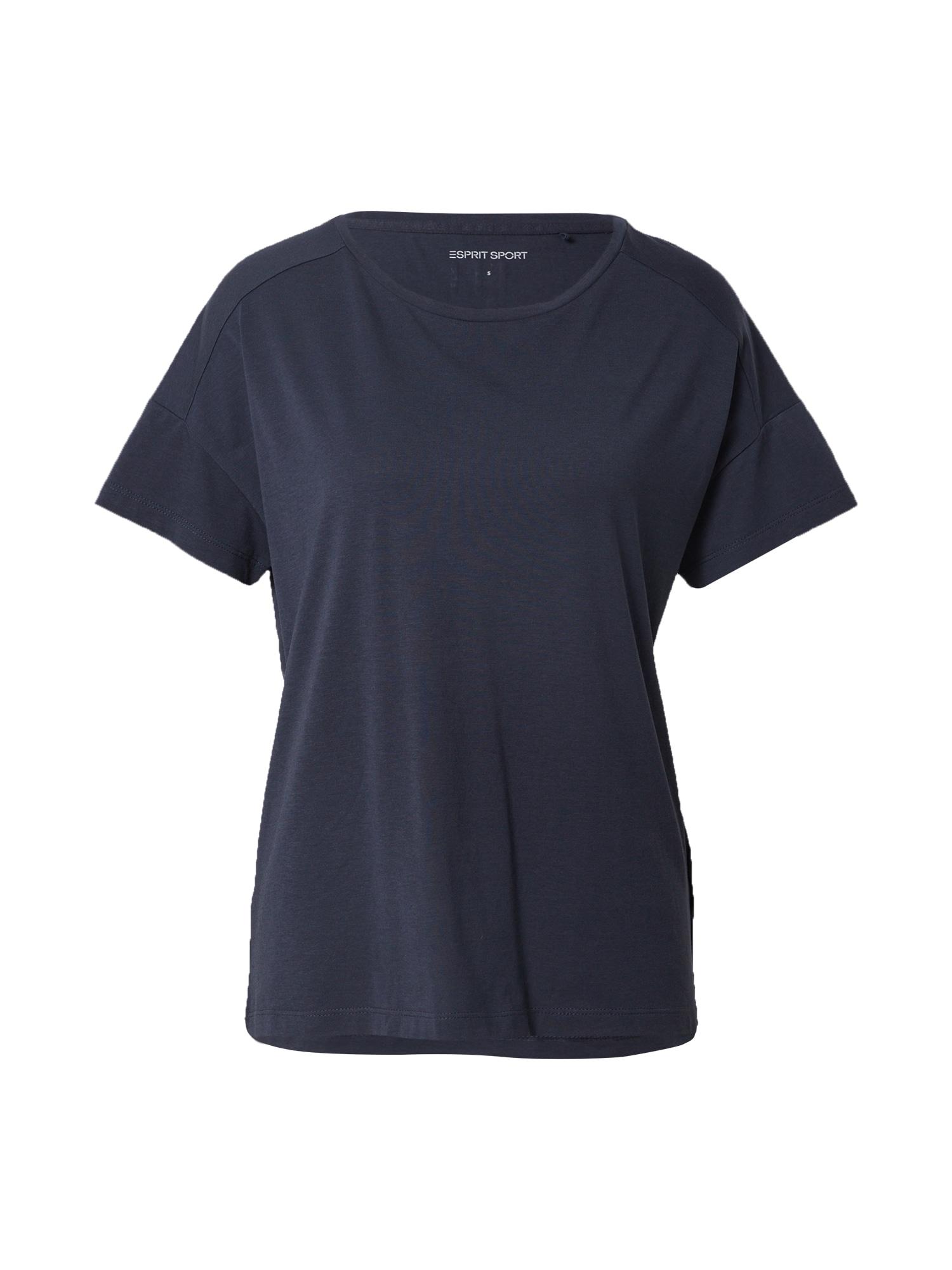 ESPRIT SPORT Sportiniai marškinėliai tamsiai mėlyna
