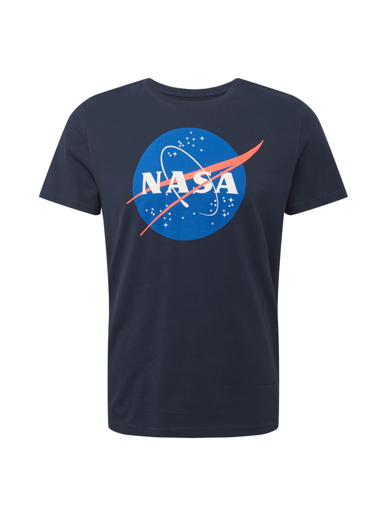 OVS Tričko 'NASA1'  námořnická modř / modrá / červená / bílá