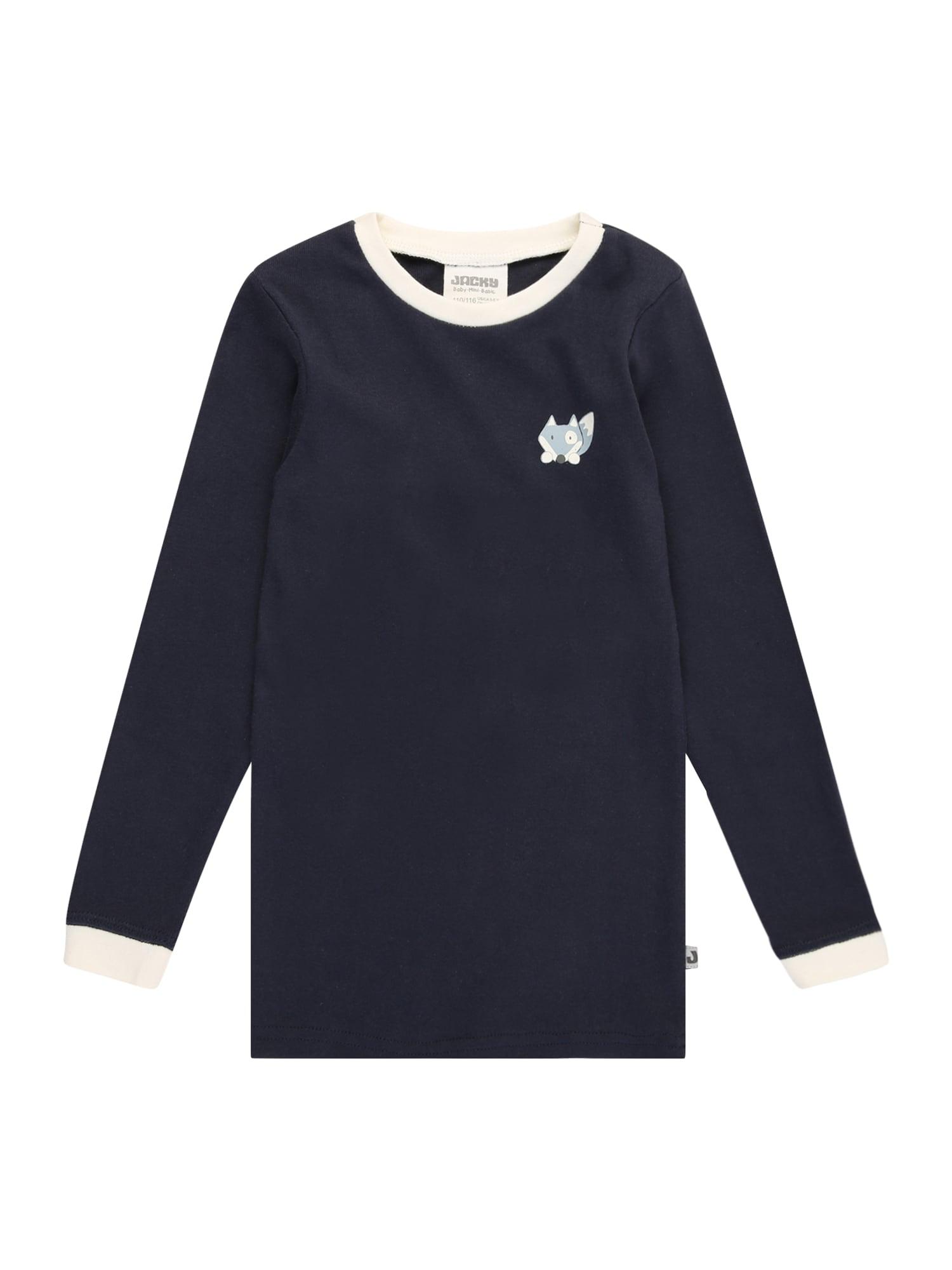 JACKY Apatiniai marškinėliai tamsiai mėlyna / balta