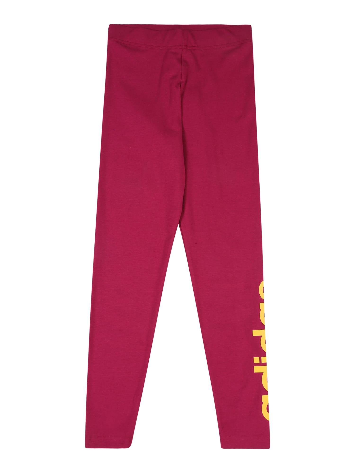 ADIDAS PERFORMANCE Sportovní kalhoty  rubínově červená / oranžová