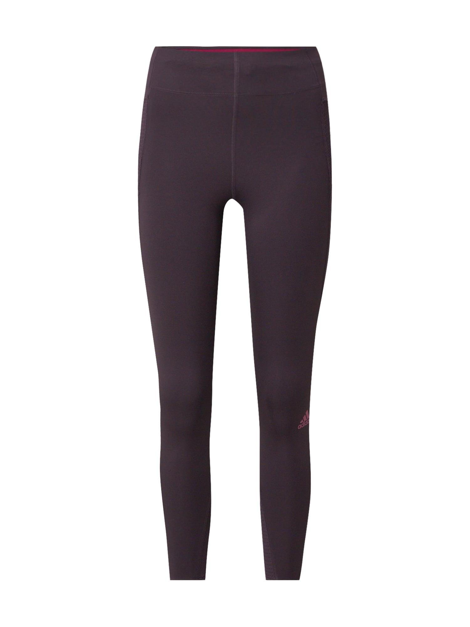 ADIDAS PERFORMANCE Sportinės kelnės rožinė / uogų spalva