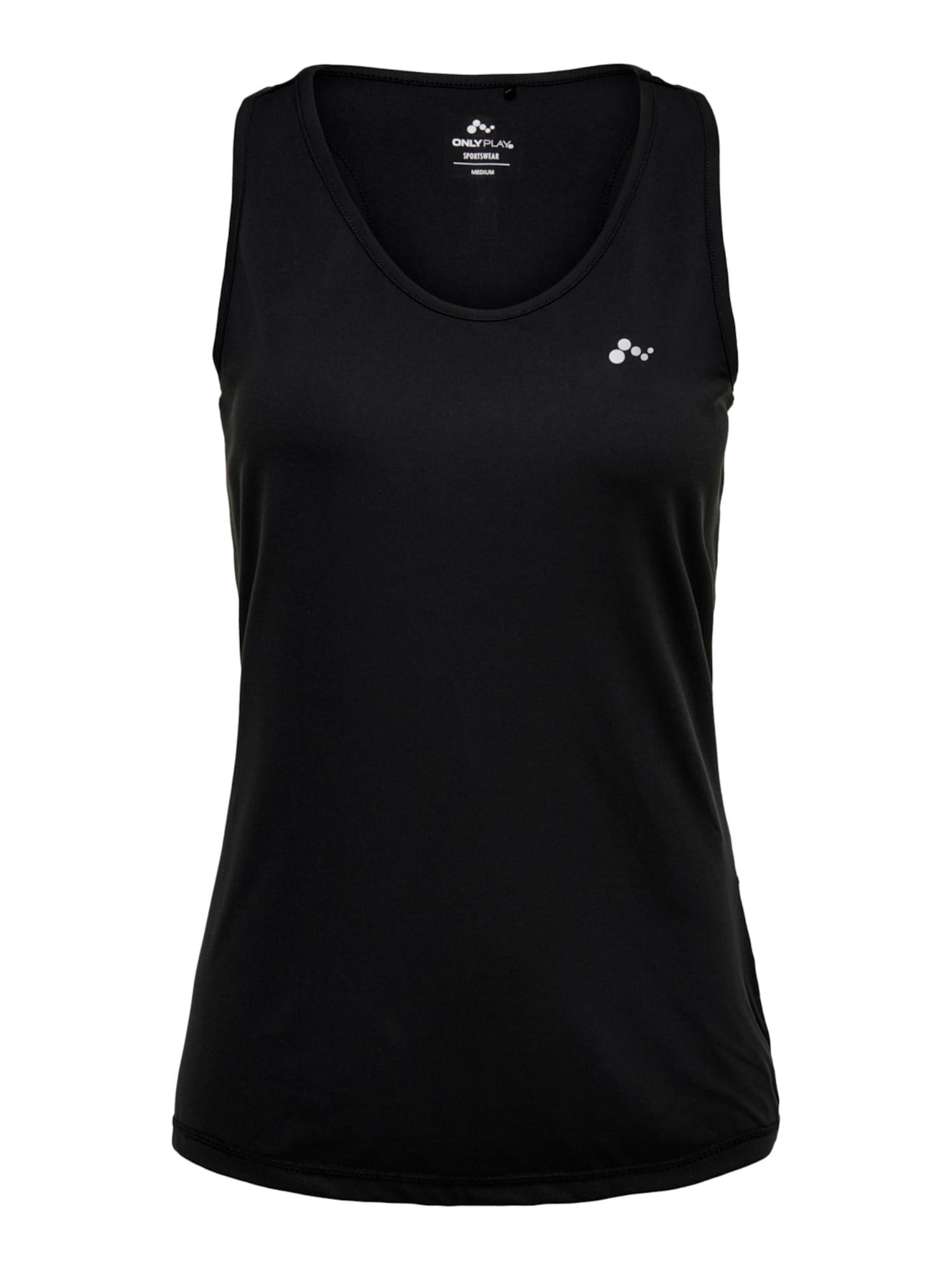 ONLY PLAY Sportiniai marškinėliai be rankovių juoda