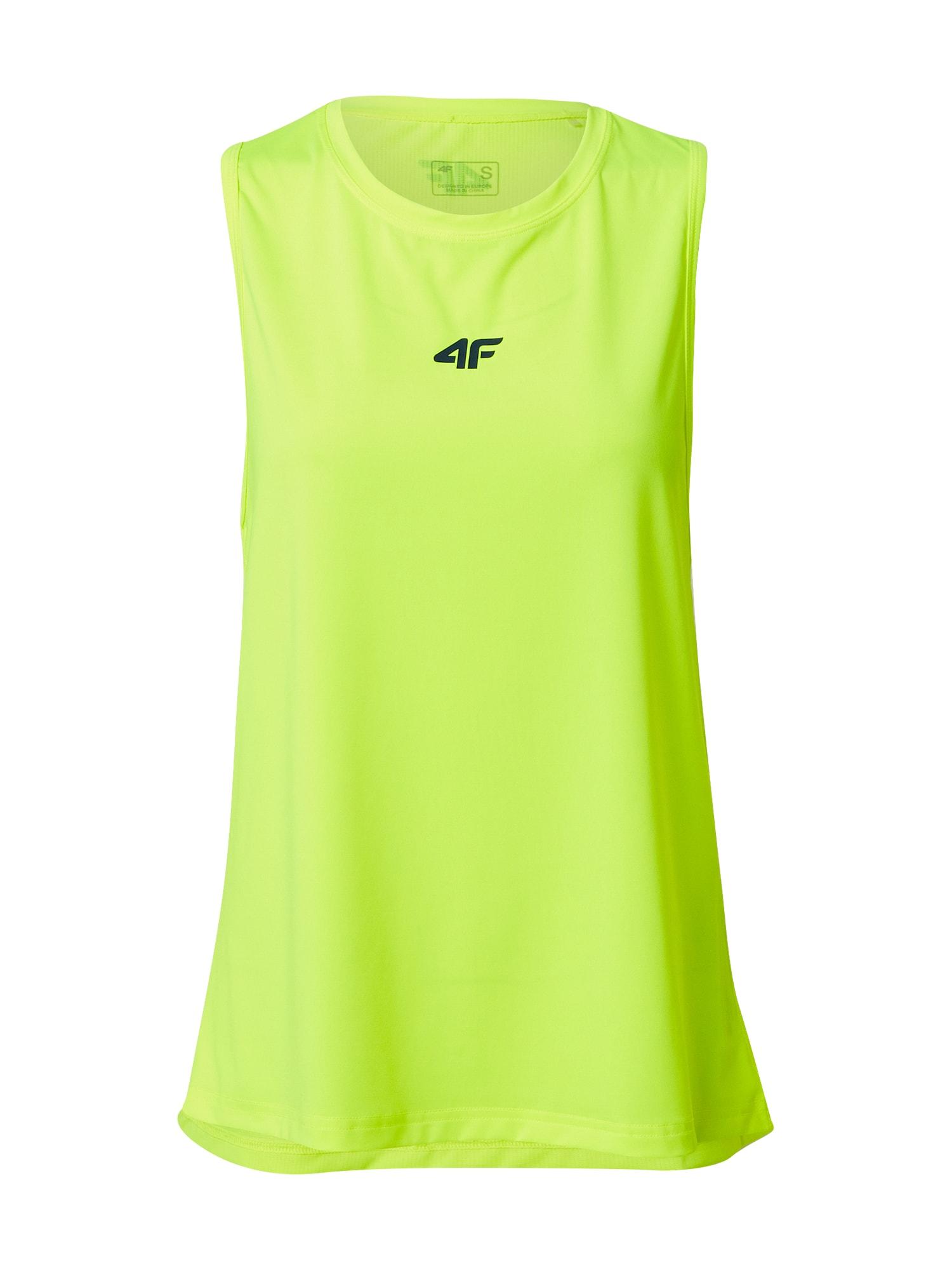 4F Sportiniai marškinėliai be rankovių kivių spalva / juoda