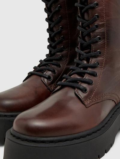 - Runde Schuhspitze - Schnürung vorn - Seitlicher Reißverschluss - Fersenlasche - Chunky-Sohle - Absatzhöhe: 3,5cm