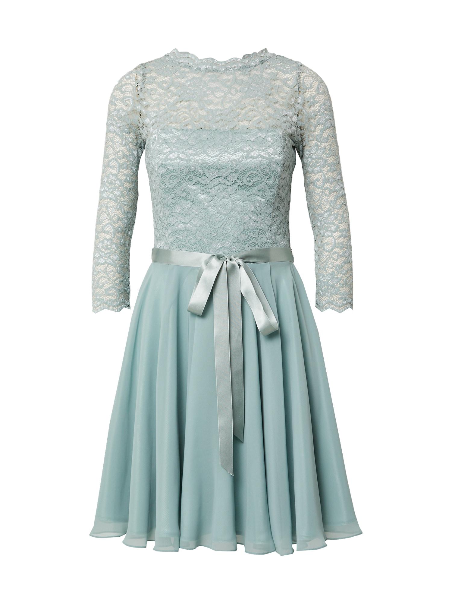 SWING Kokteilinė suknelė pastelinė žalia