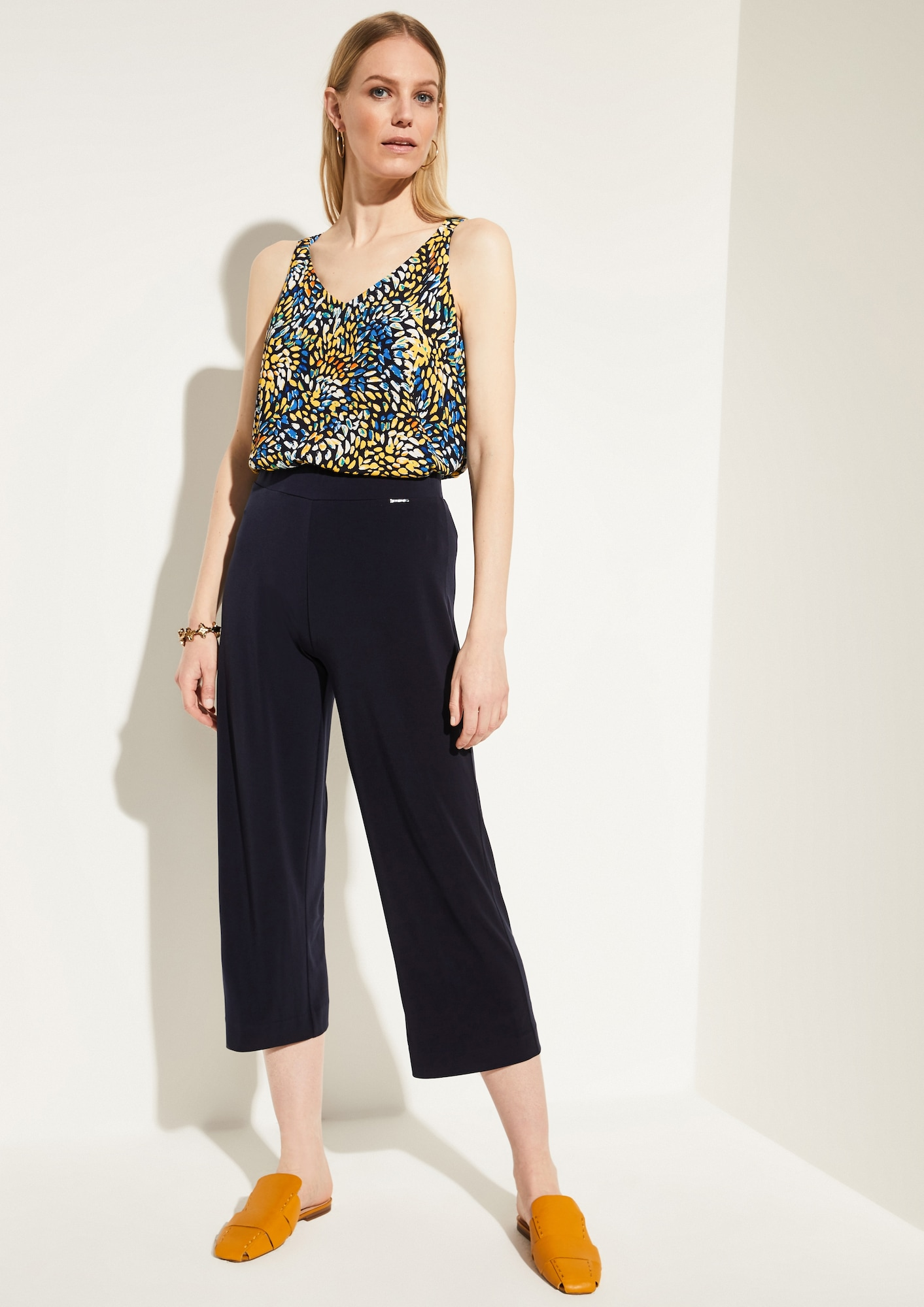 comma - Regular Fit: Culotte mit Elastikbund
