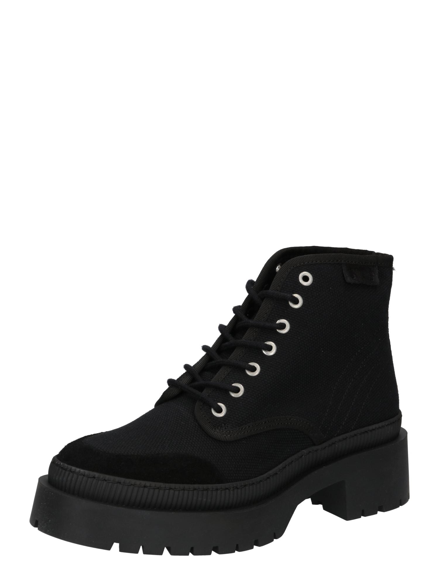 Shoe The Bear Suvarstomieji kulkšnis dengiantys batai juoda