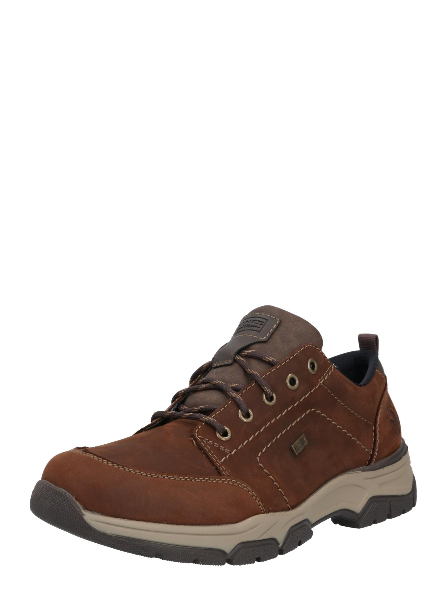 RIEKER Sportinio stiliaus batai su raišteliais tamsiai ruda