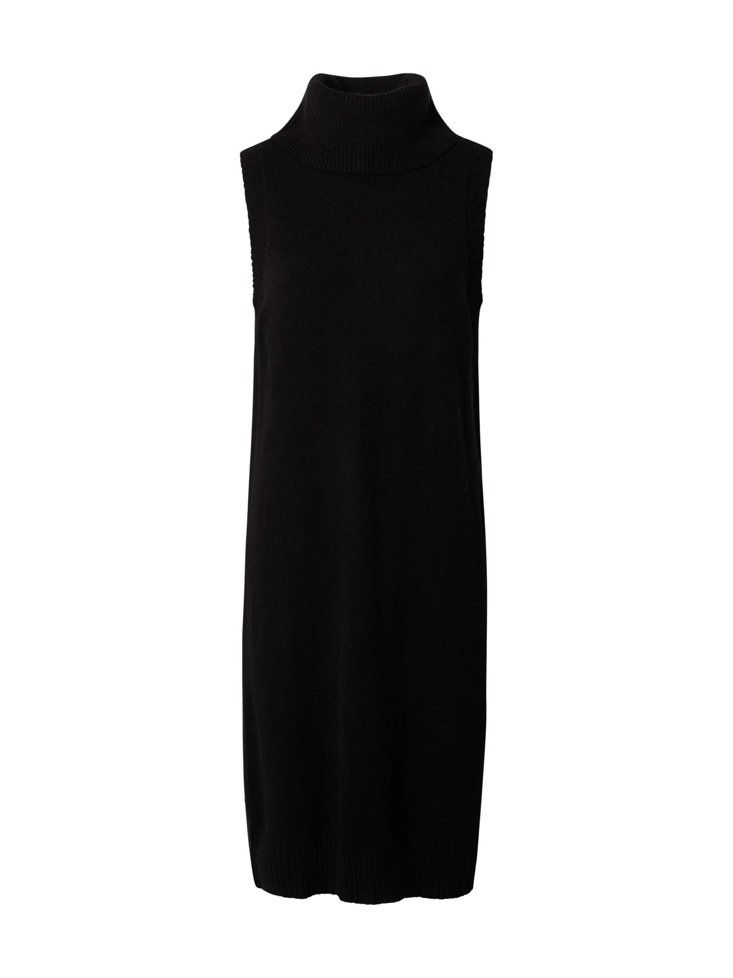 VILA Úpletové šaty  černá