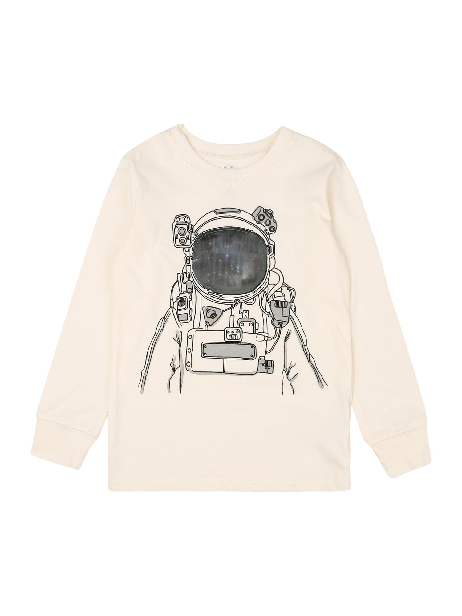 OshKosh Marškinėliai grafito / pilka / margai balta
