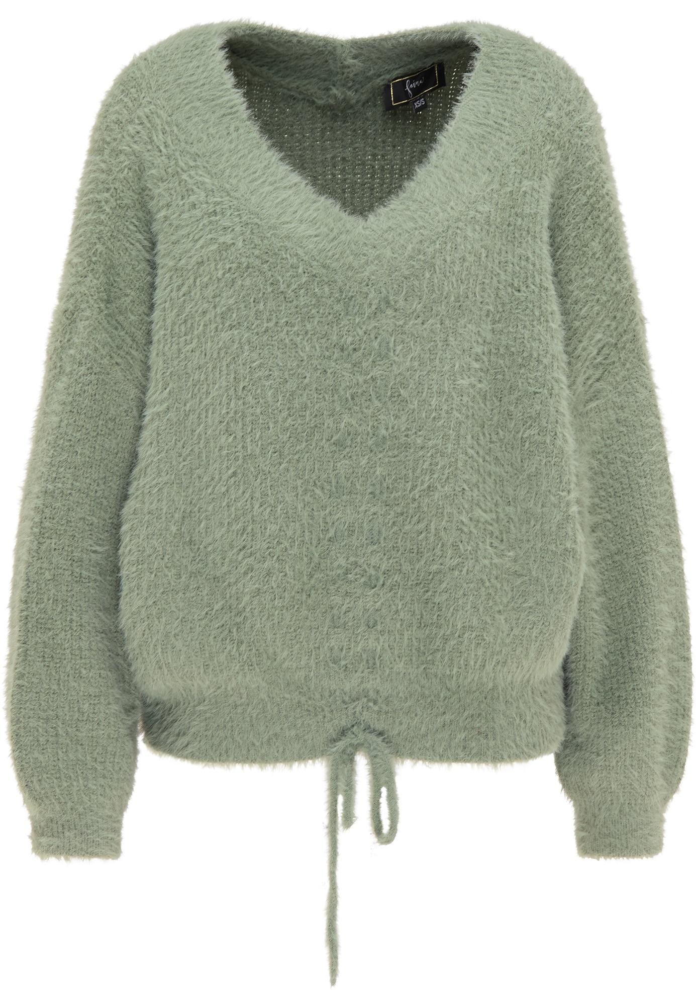 faina Laisvas megztinis žalia
