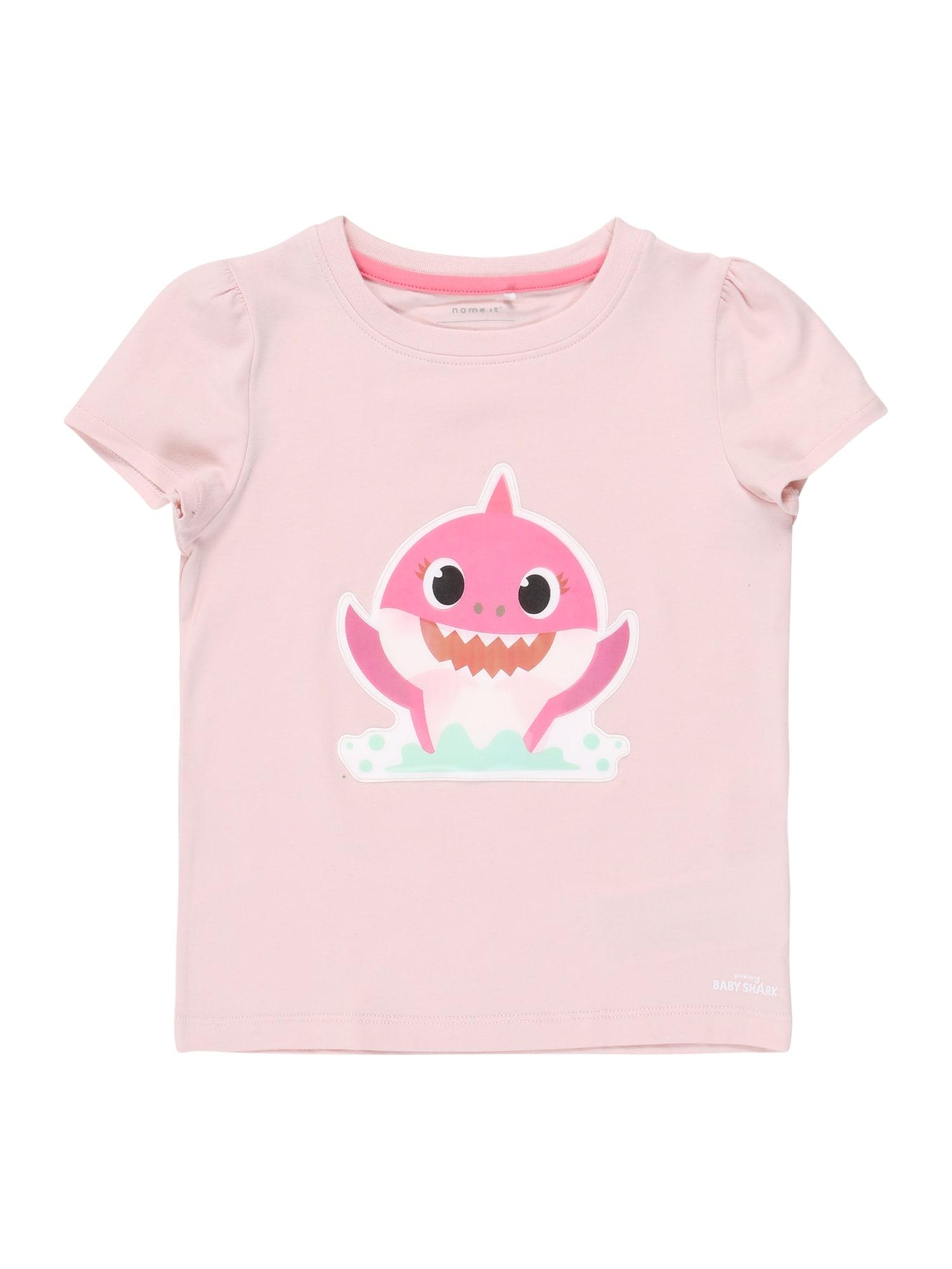 NAME IT Marškinėliai šviesiai rožinė