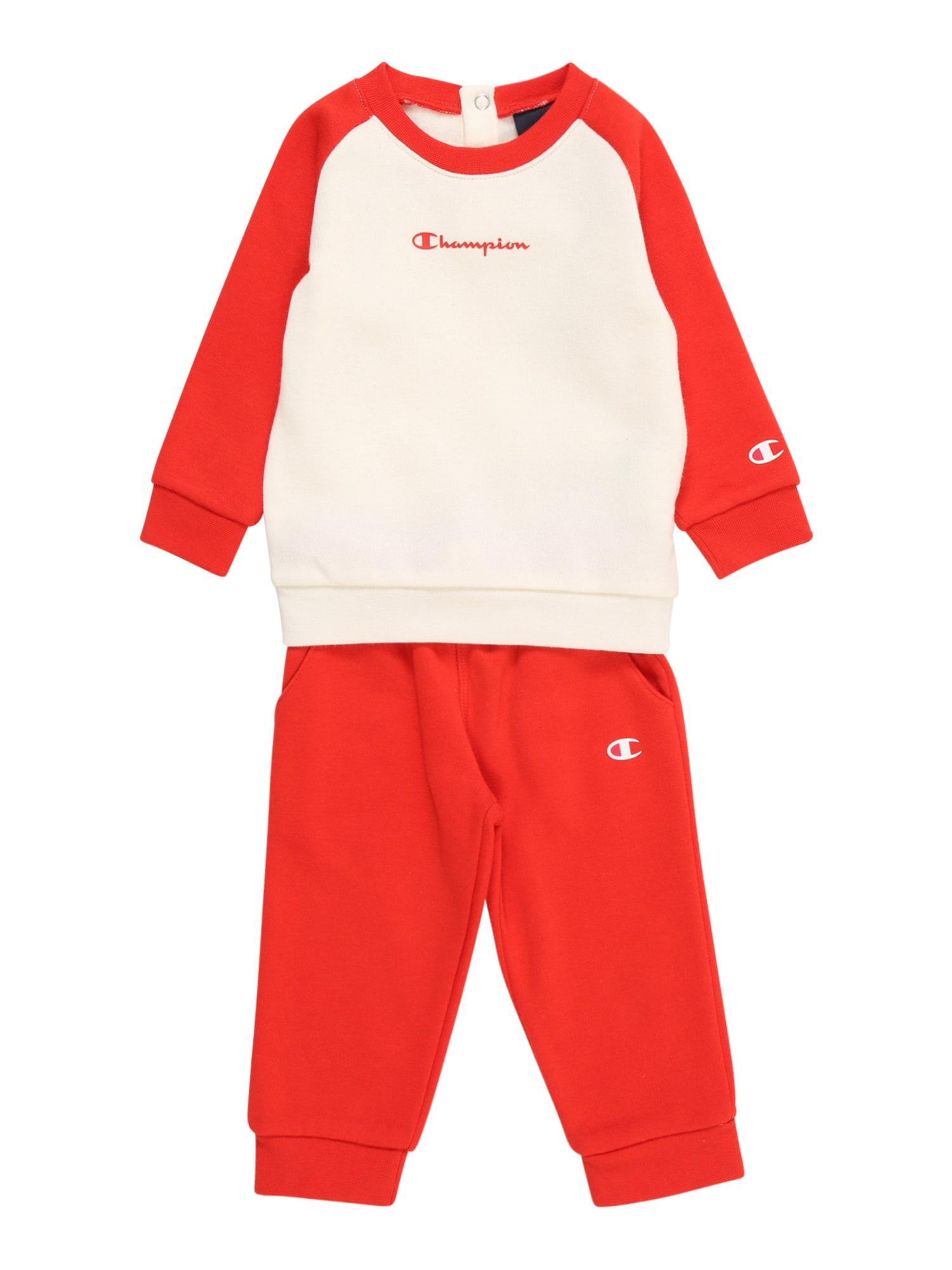 Champion Authentic Athletic Apparel Laisvalaikio kostiumas raudona / balta