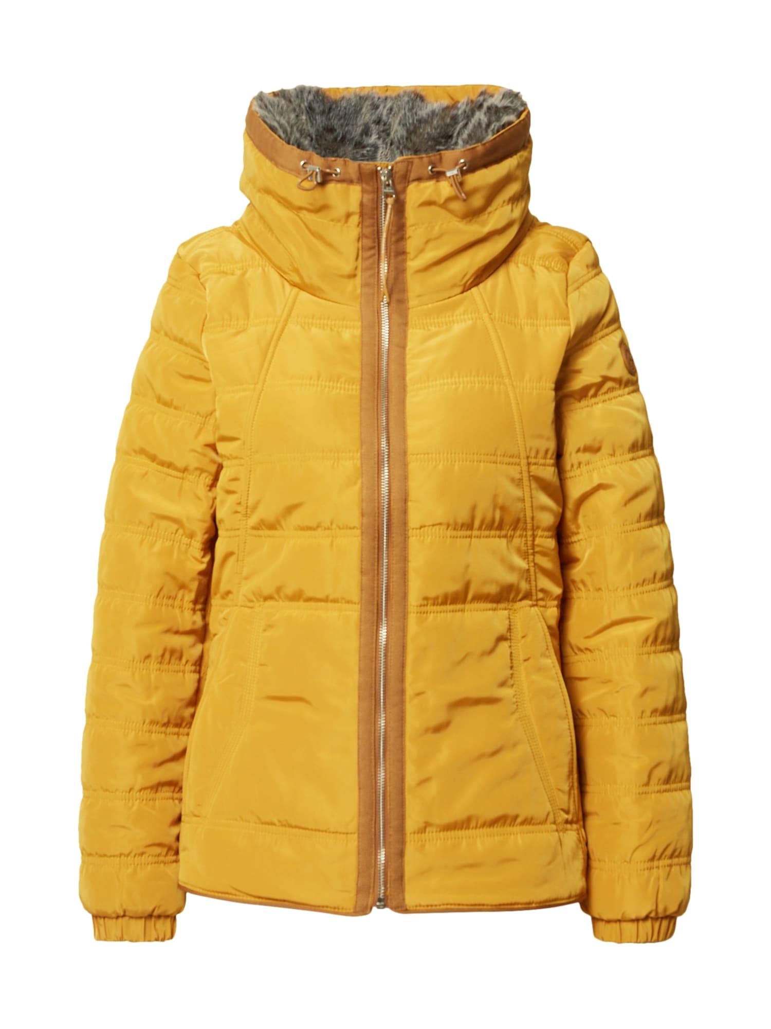 Q/S designed by Zimní bunda  zlatě žlutá