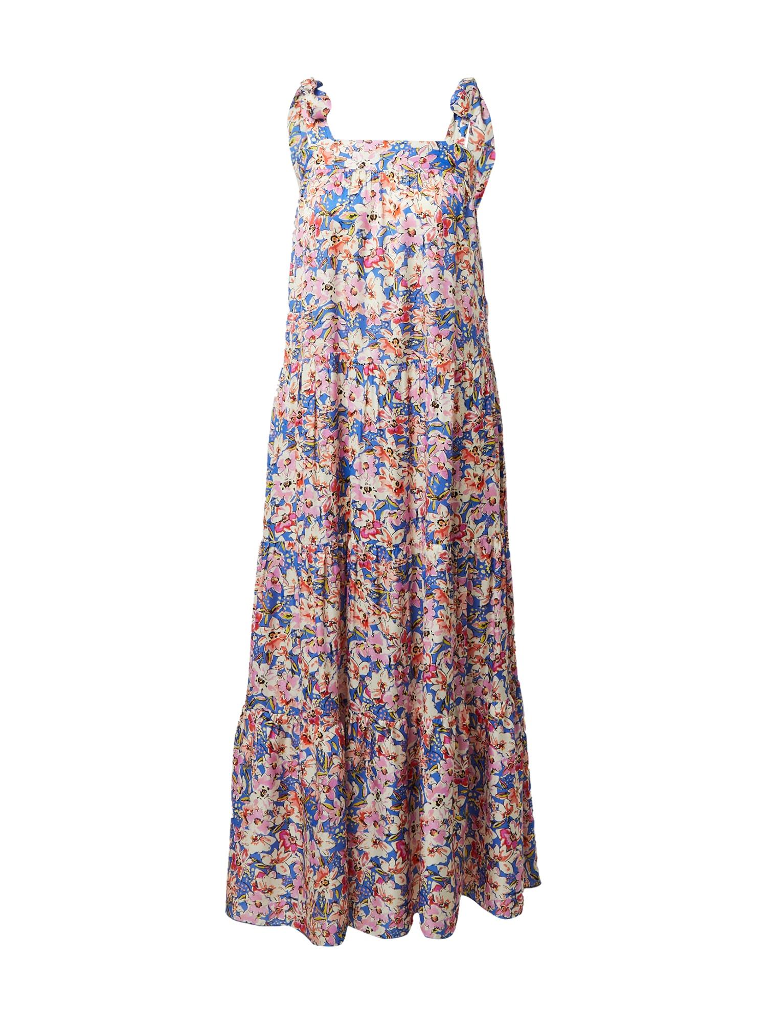 FRNCH PARIS Vasarinė suknelė šviesiai žalia / rožinė / mėlyna / smėlio / oranžinė-raudona