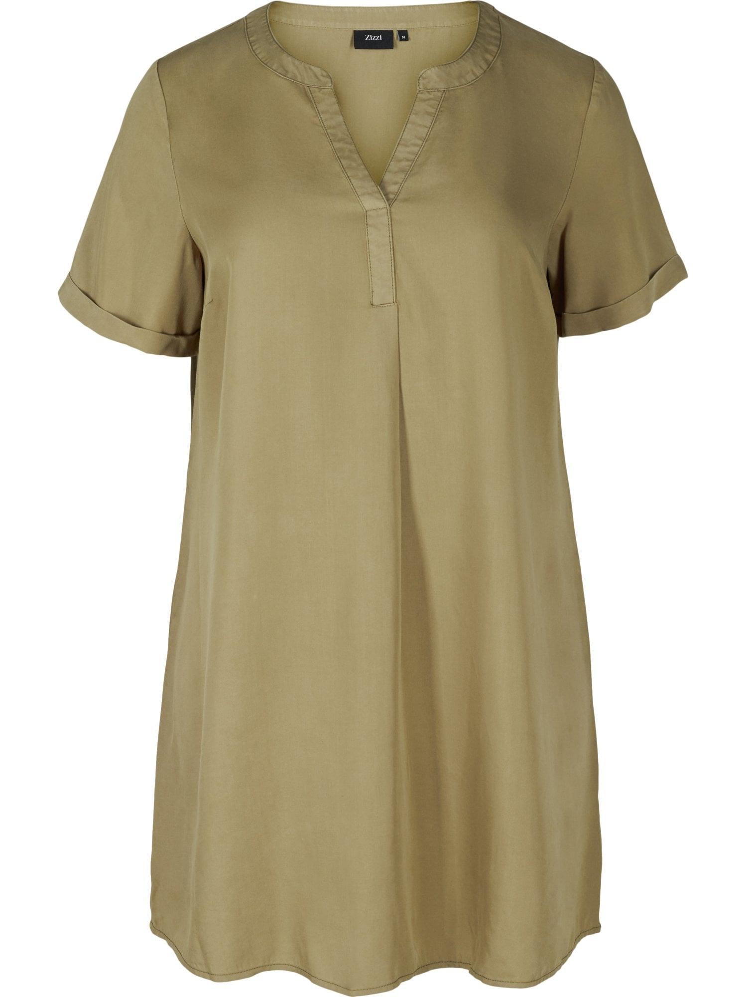 Zizzi Košilové šaty 'Ecatrine'  olivová