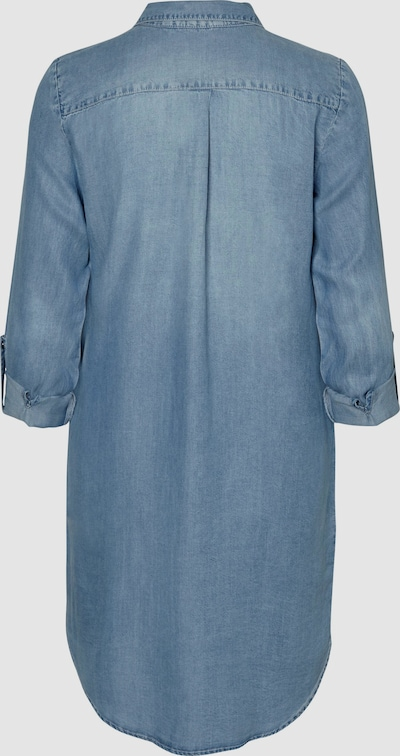 Vero Moda Silla Long Sleeve Light Blue Denim Dress