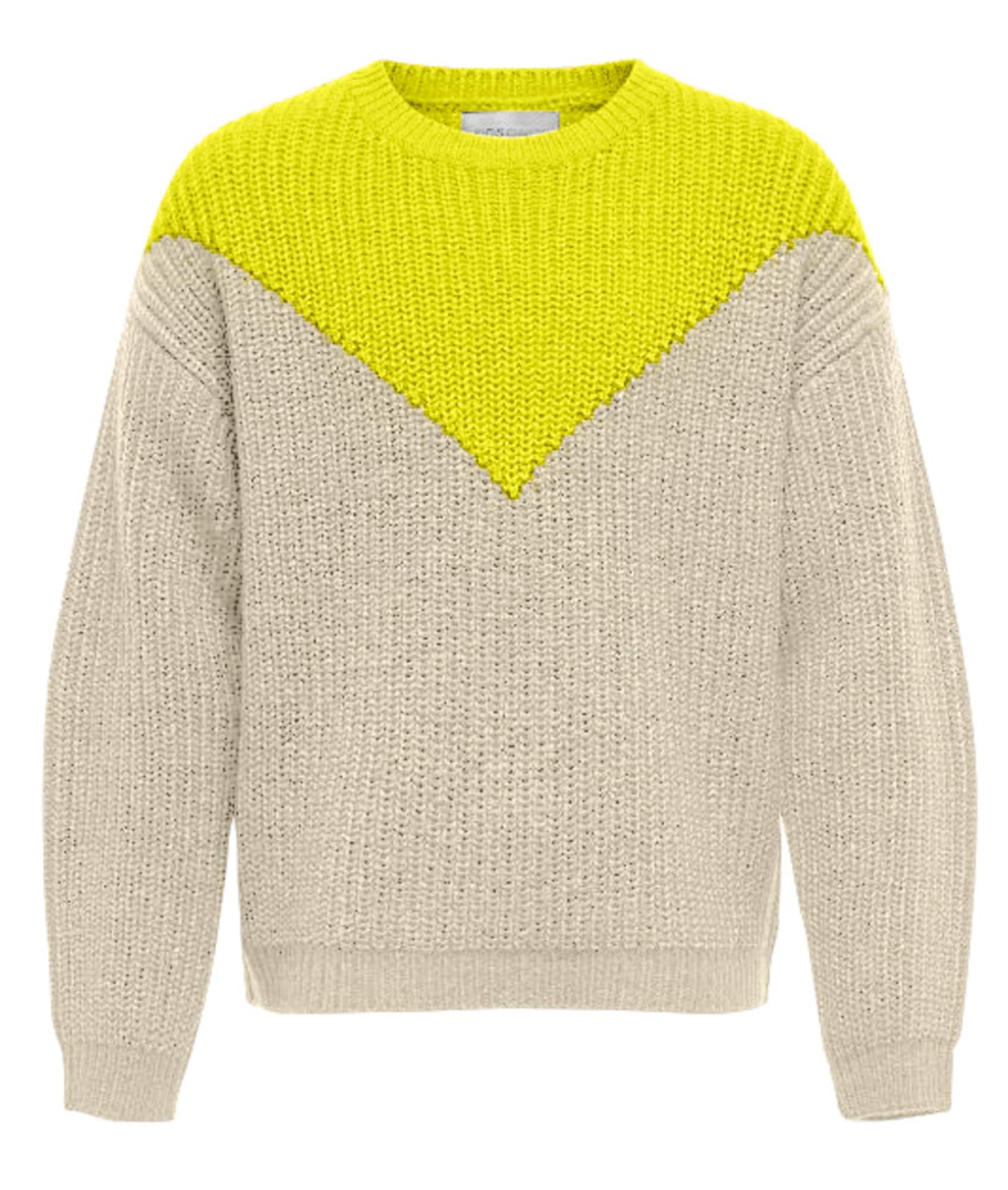 KIDS ONLY Megztinis geltona / pilka