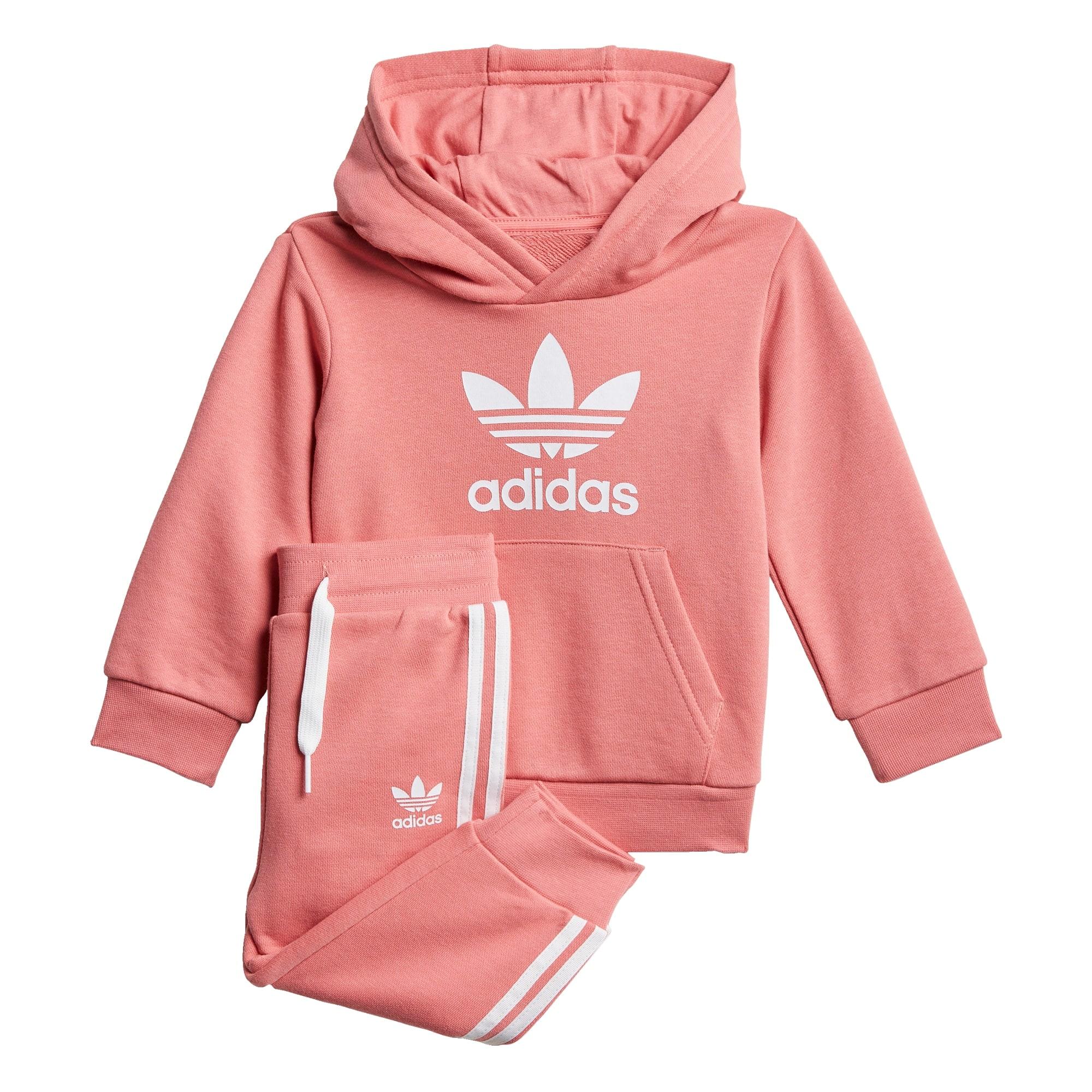 ADIDAS ORIGINALS Treningas balta / ryškiai rožinė spalva