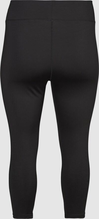 3/4-Hose von Active by Zizzi.  Super stretch Trainingshose mit einer bequemen Passform und guter Bewegungsfreiheit. Sie hat eine breite, elastische Taille und ein schlichtes Design.