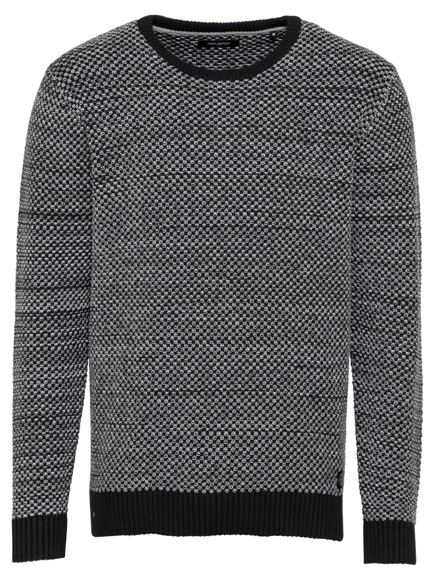 SHINE ORIGINAL Megztinis margai juoda / balta